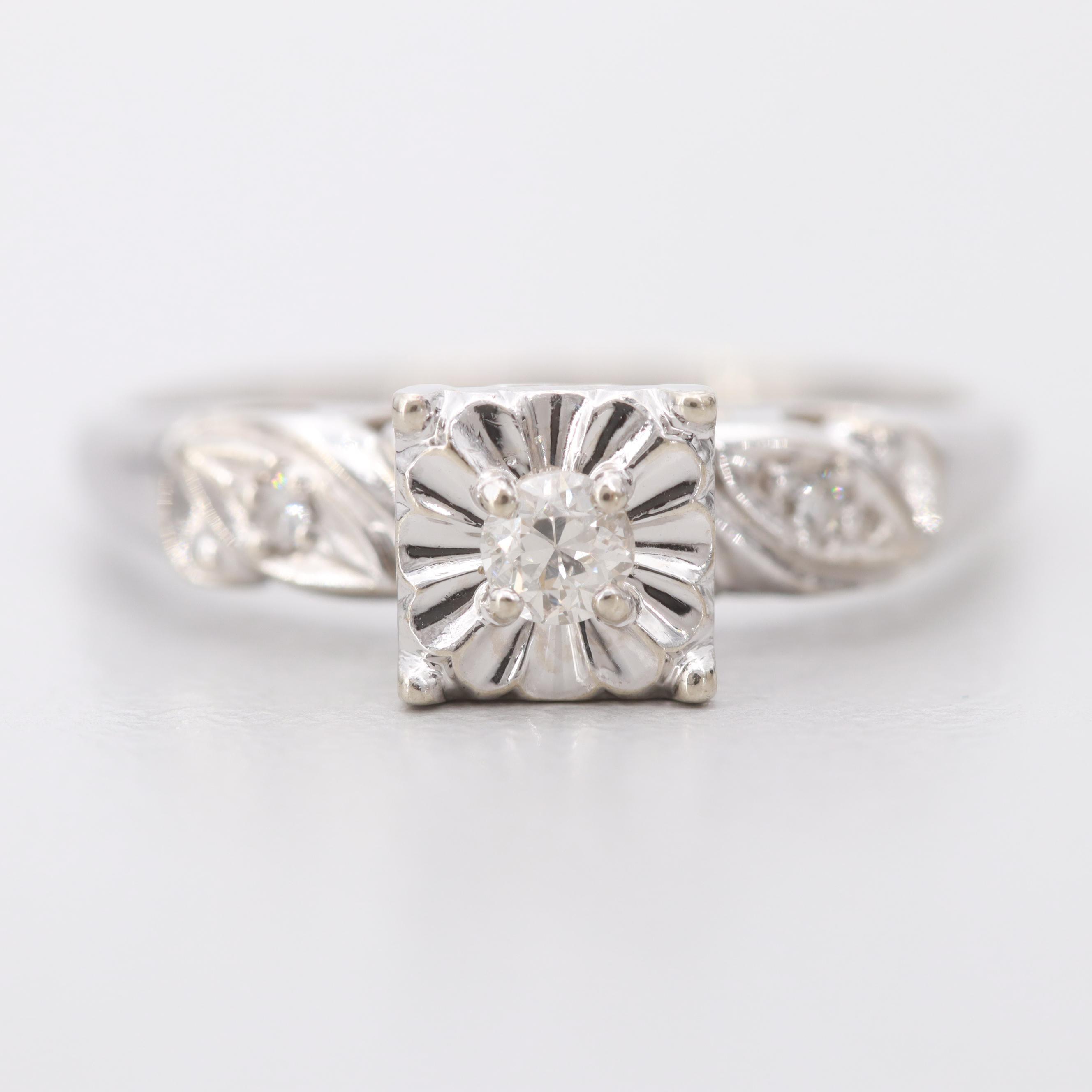 Russ Jensen & Sons 14K White Gold Diamond Ring