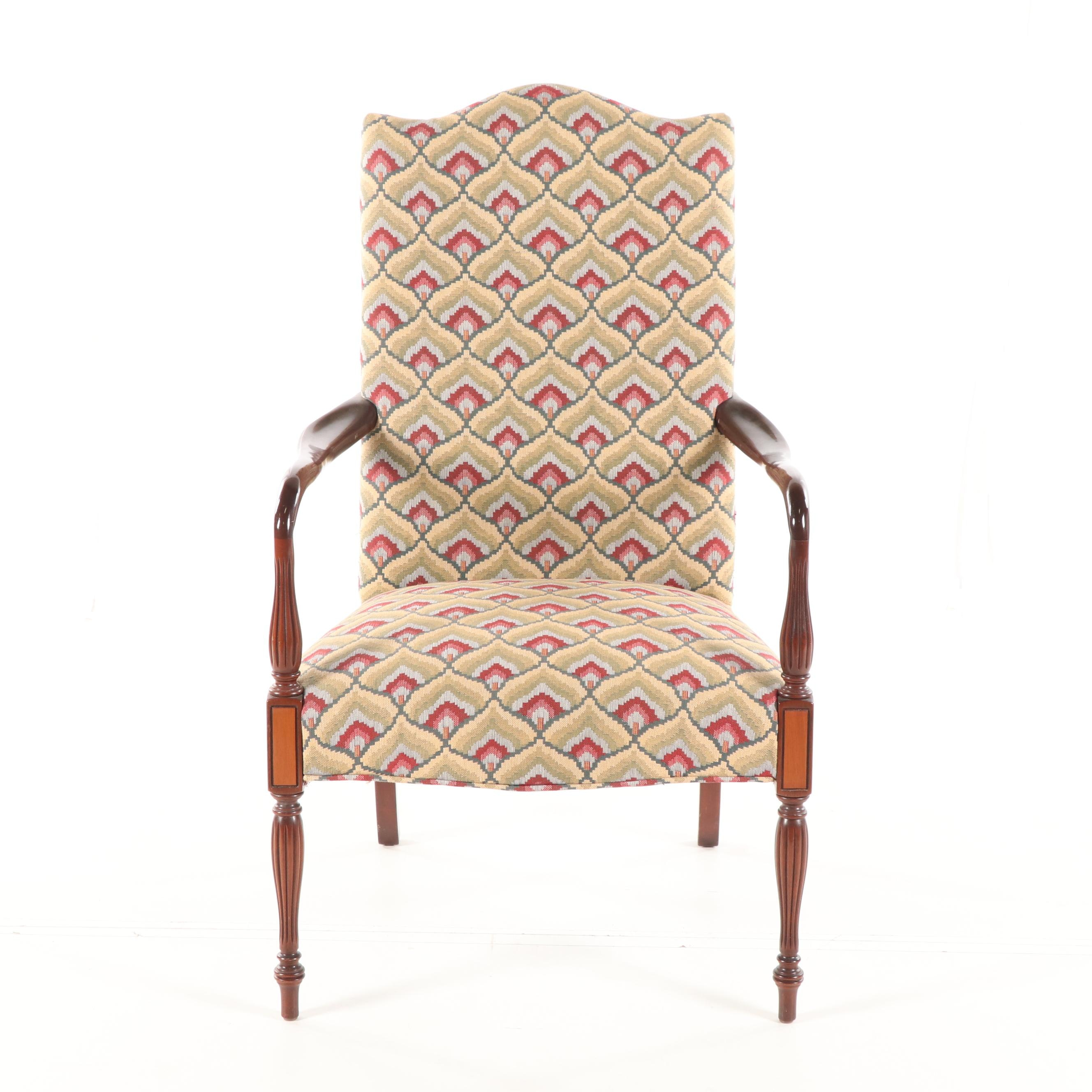 Federal Style Upholstered Armchair, 20th Century