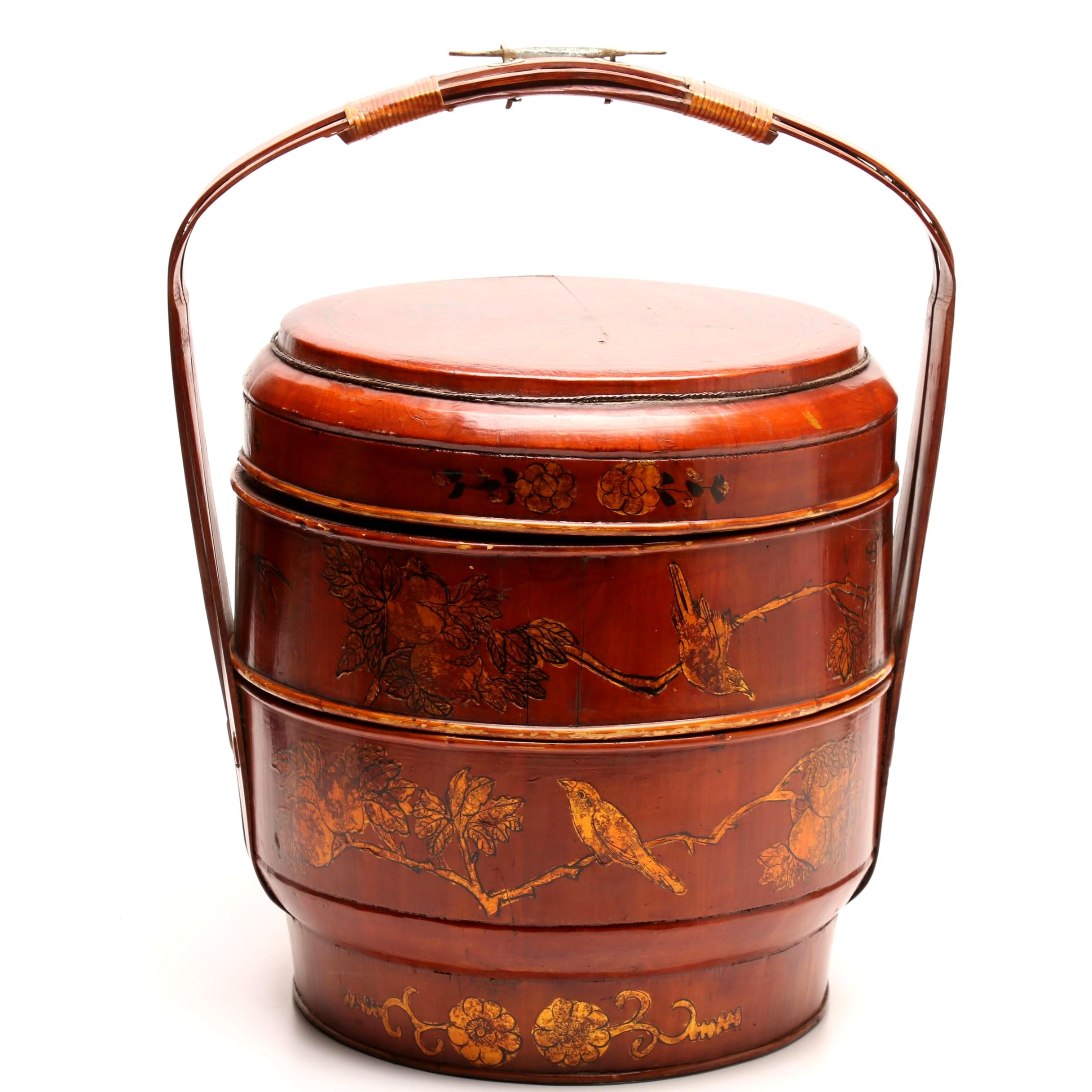 Chinese Wooden Rice Basket