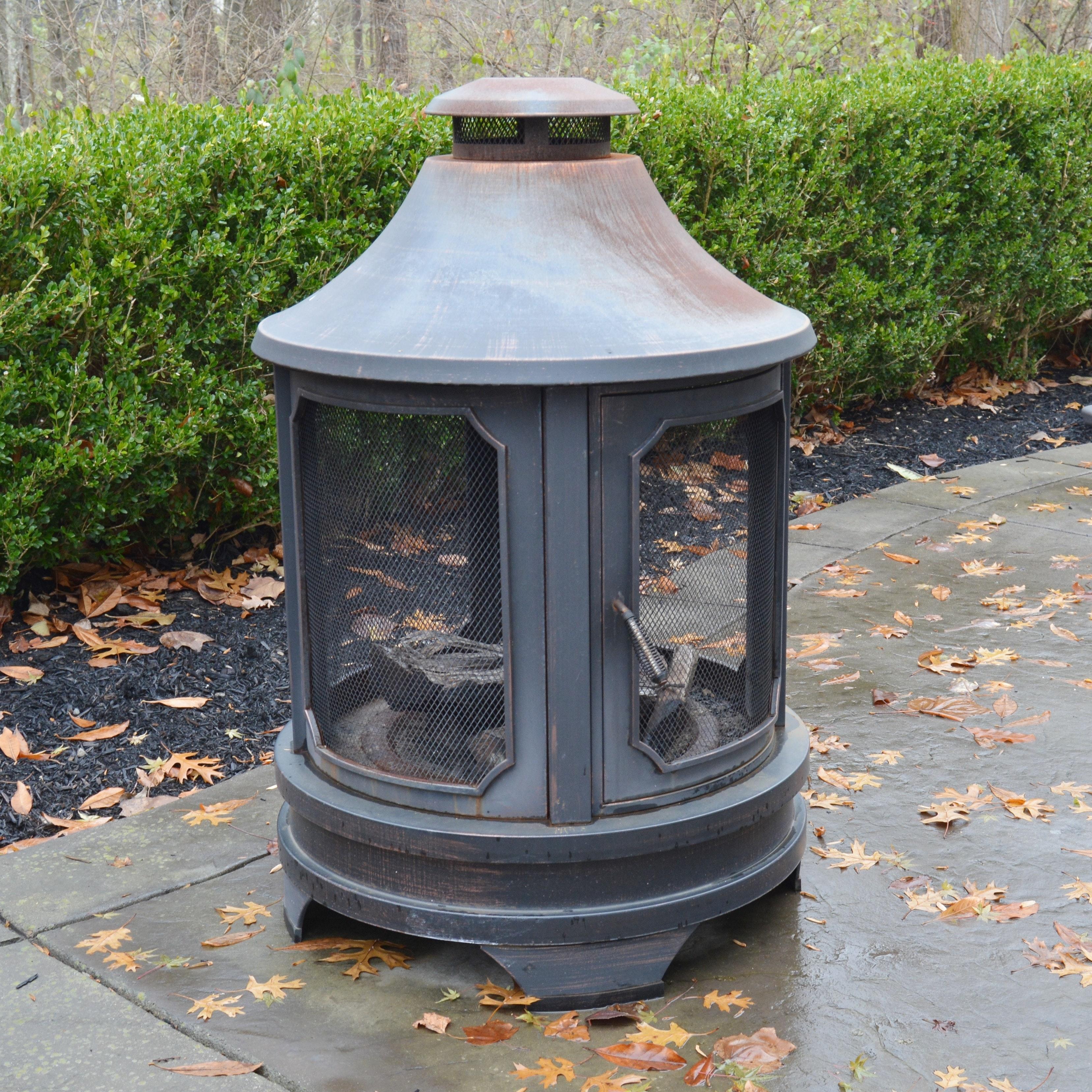 Round Lantern-Shaped Fire Pit
