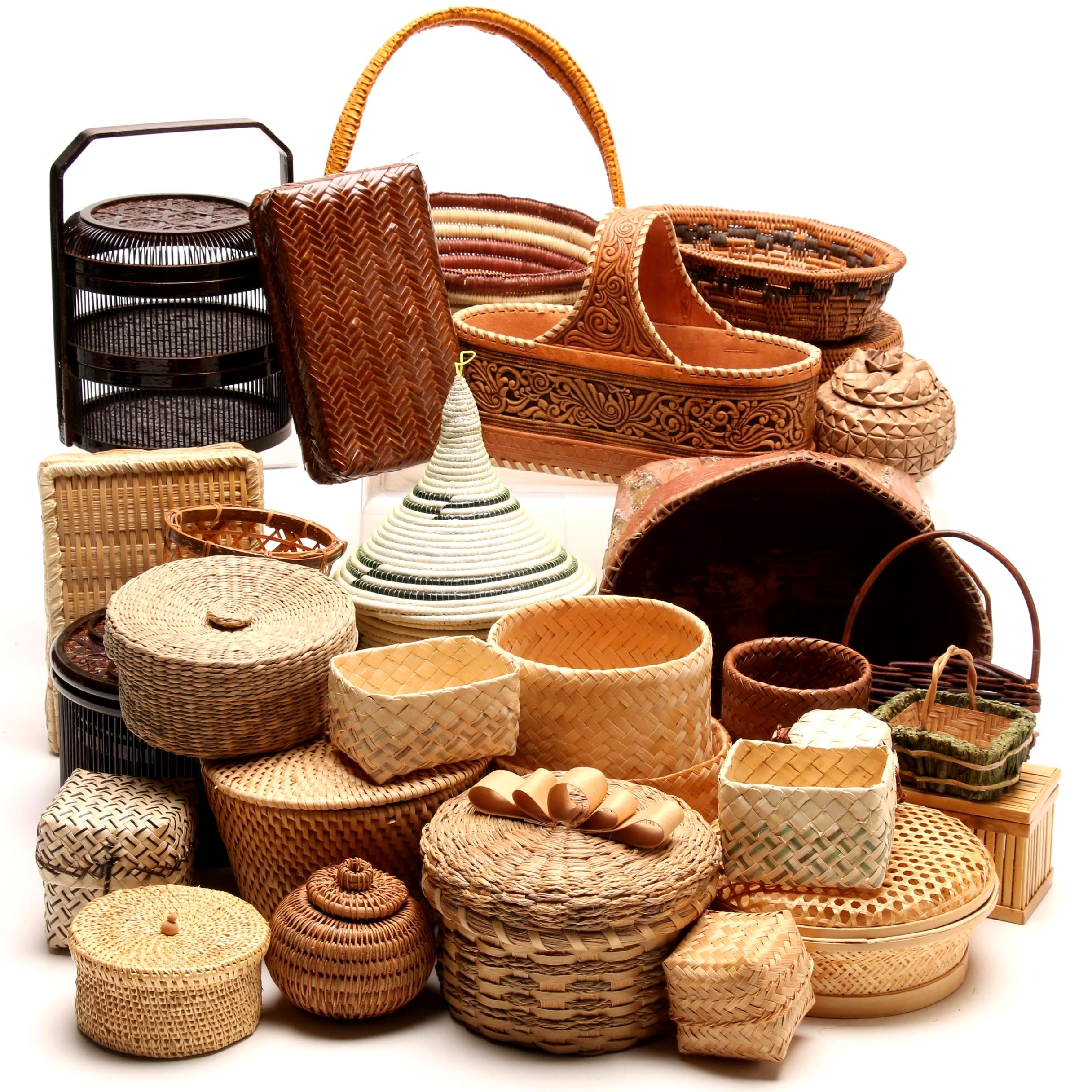 Hand Woven Baskets from Japan, Africa, Alaska and More