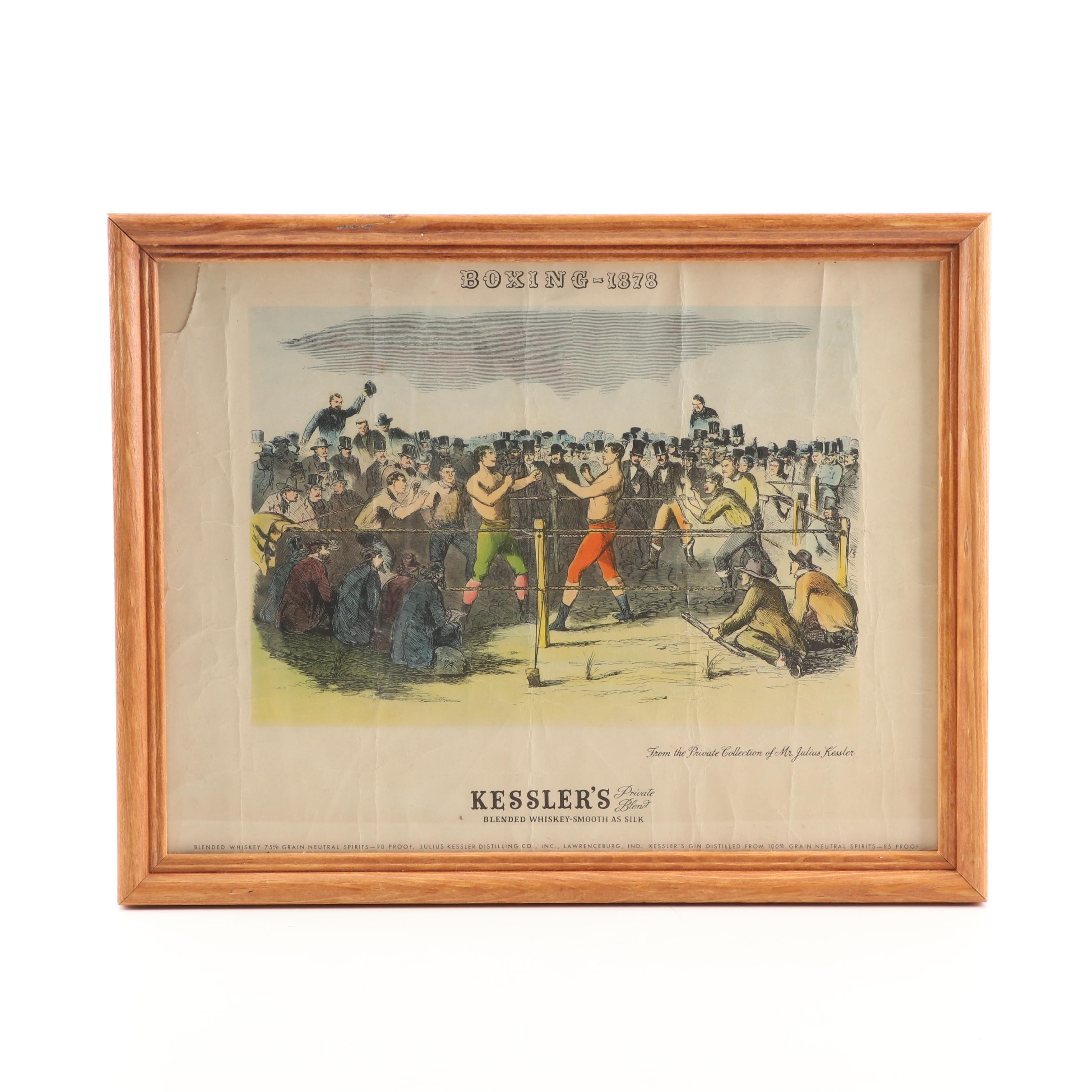 Kessler's Whiskey Advertisement, Vintage