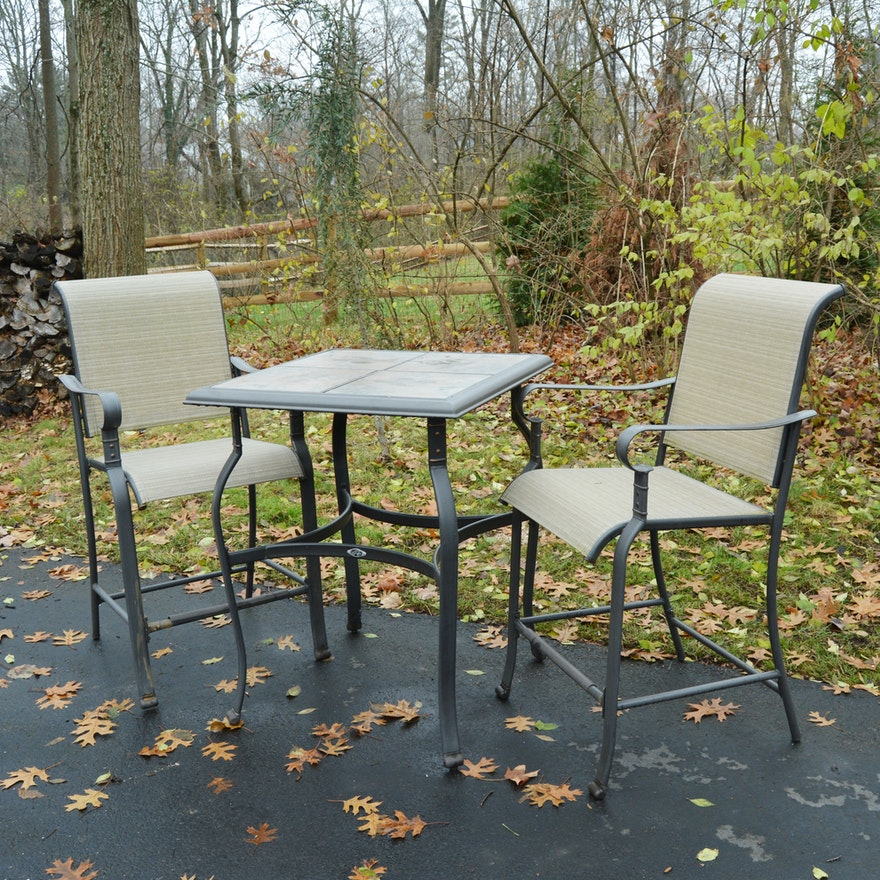 Patio High Bistro Table And Chairs By Hampton Bay