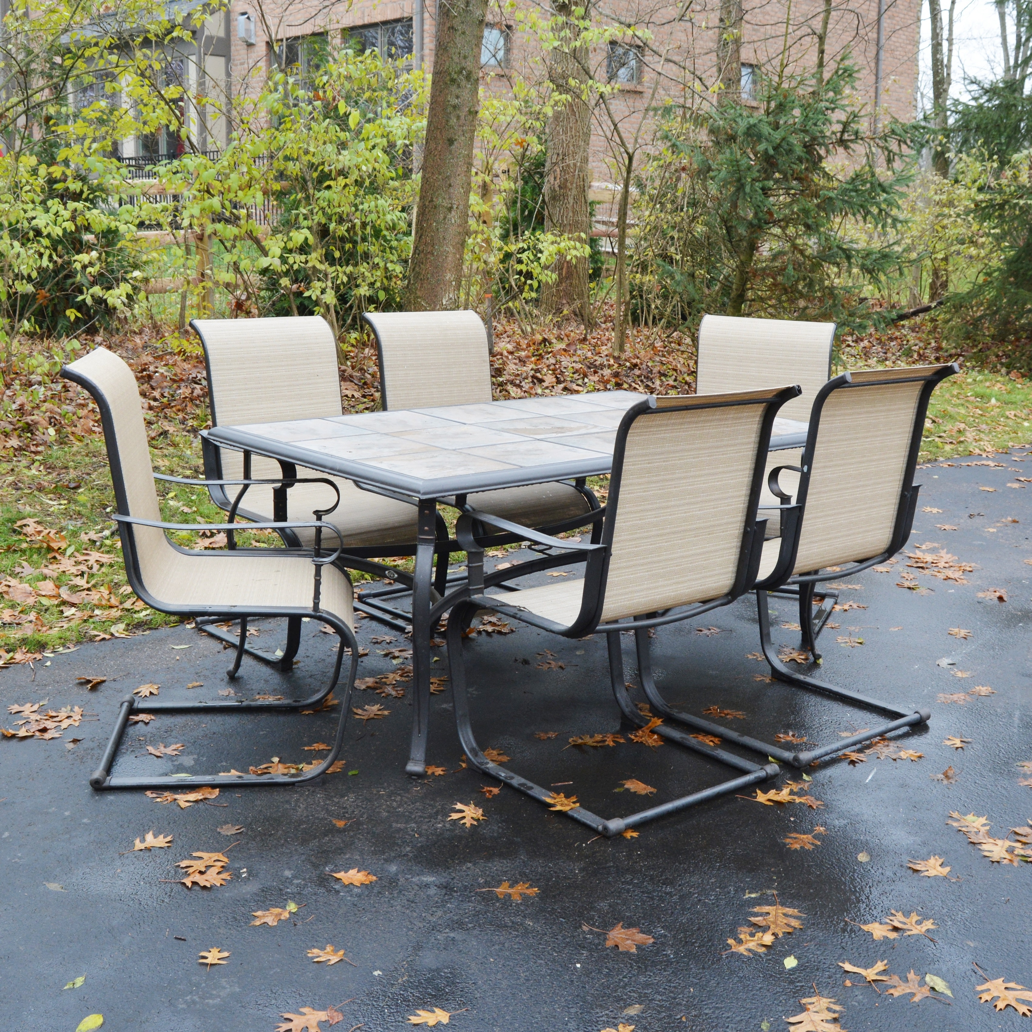 Patio Dining Table and Six Chairs by Hampton Bay