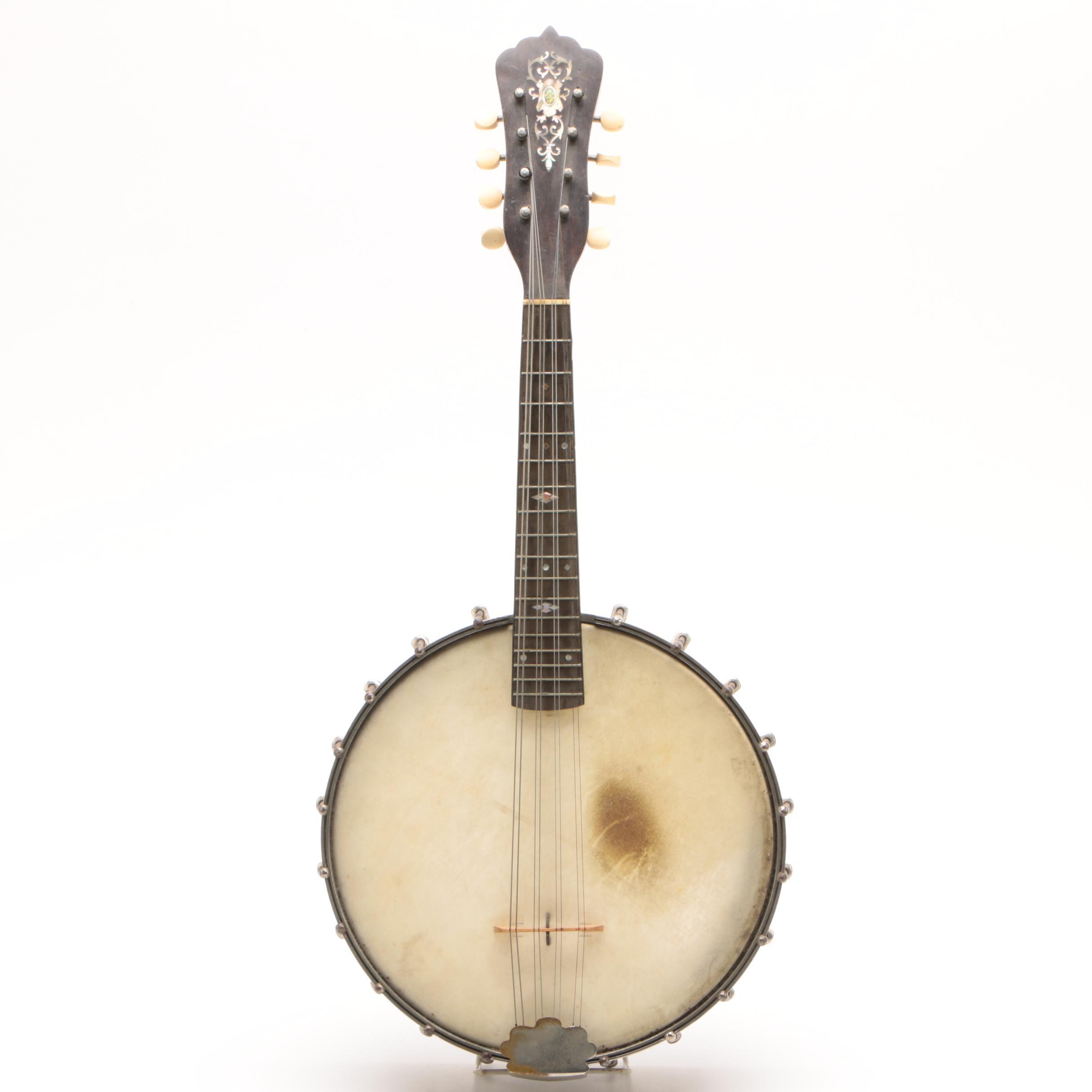 S.S. Stewart Eight-String Banjeaurine, Late 19th Century