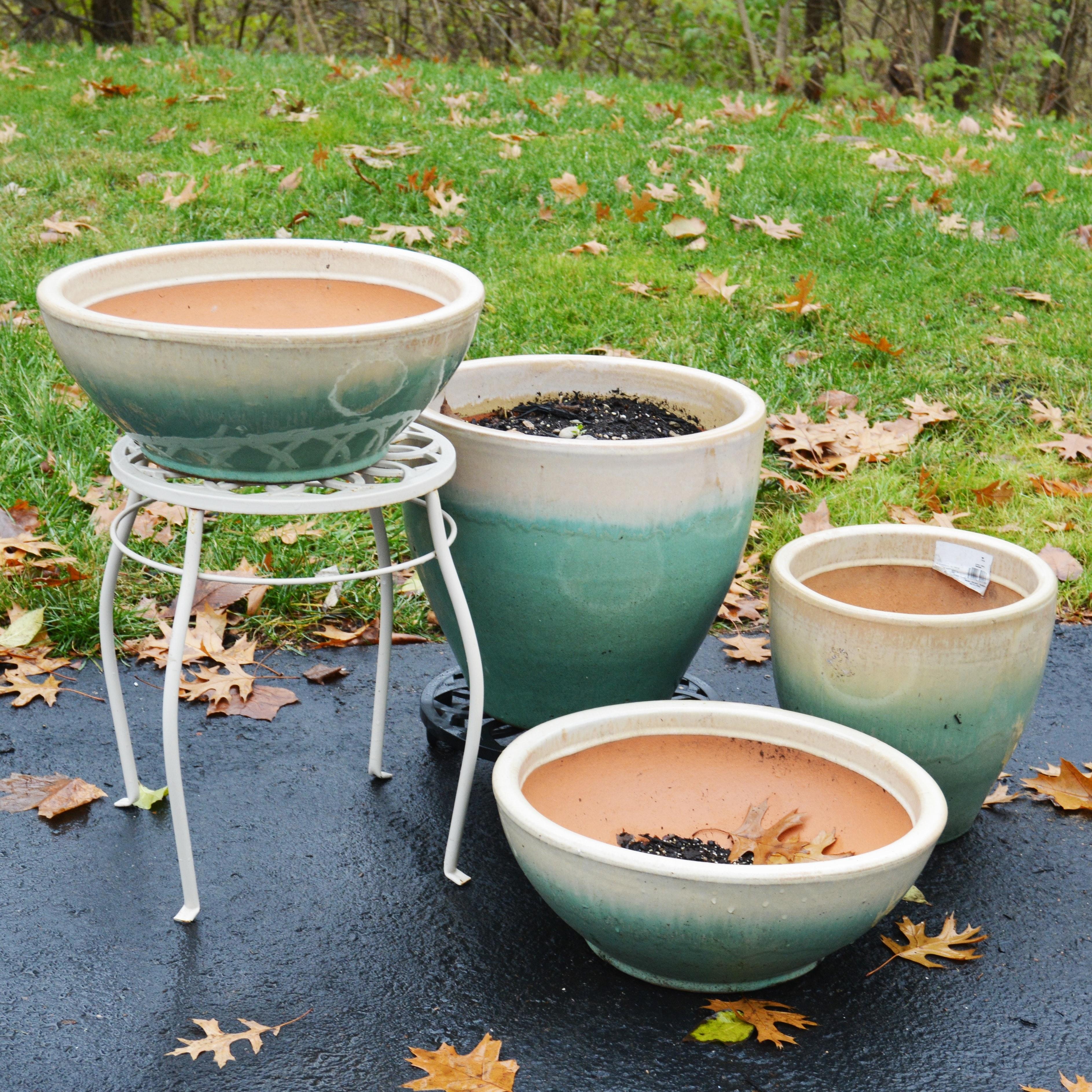 Two-Tone Ceramic Planters