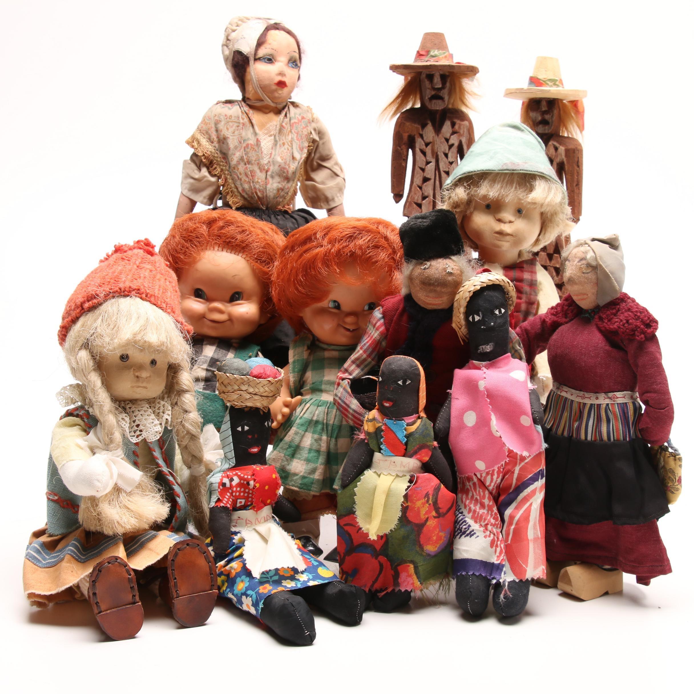 Vintage Souvenir Dolls