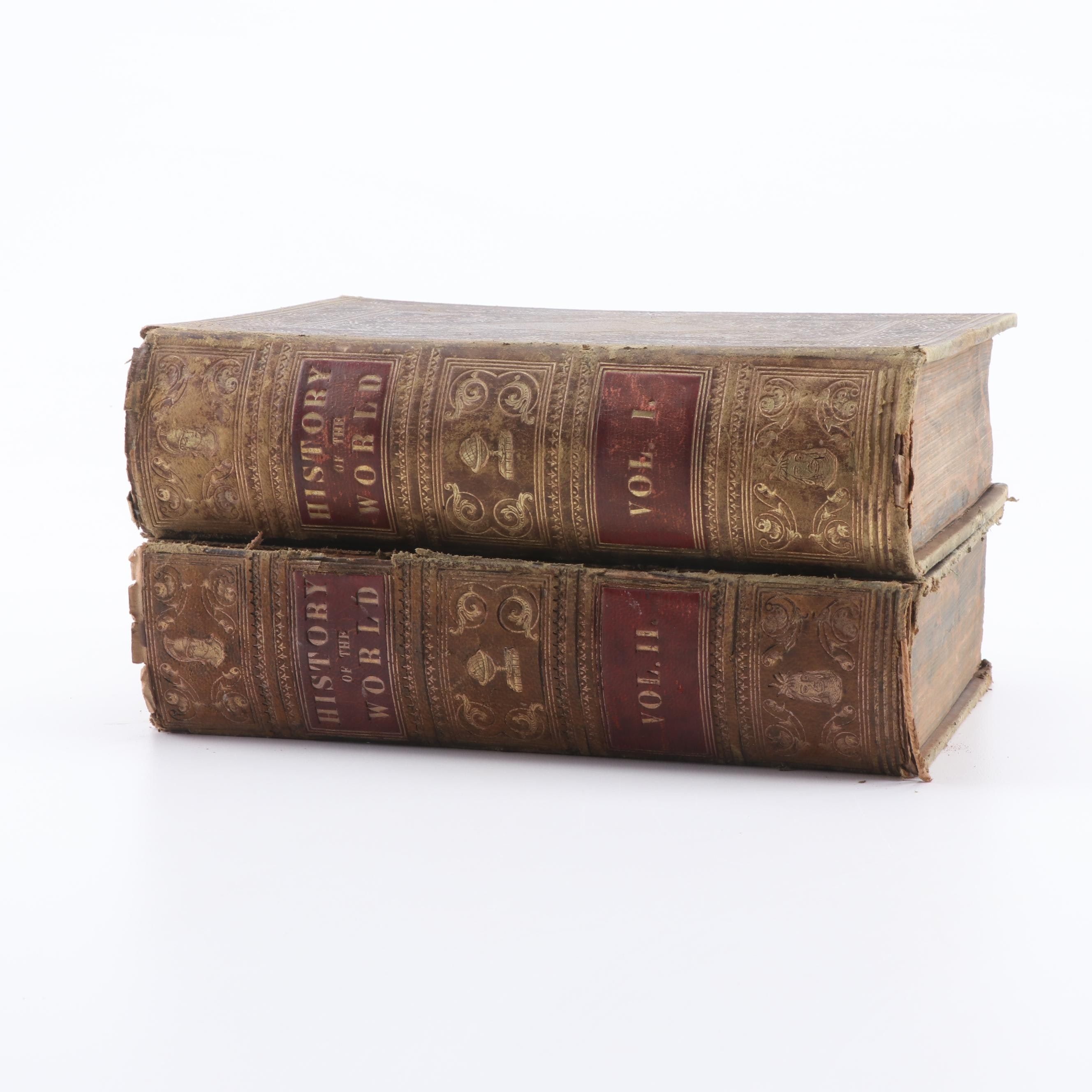 "1851 ""The Treasury of History"" by Samuel Maunder in Two Volumes"
