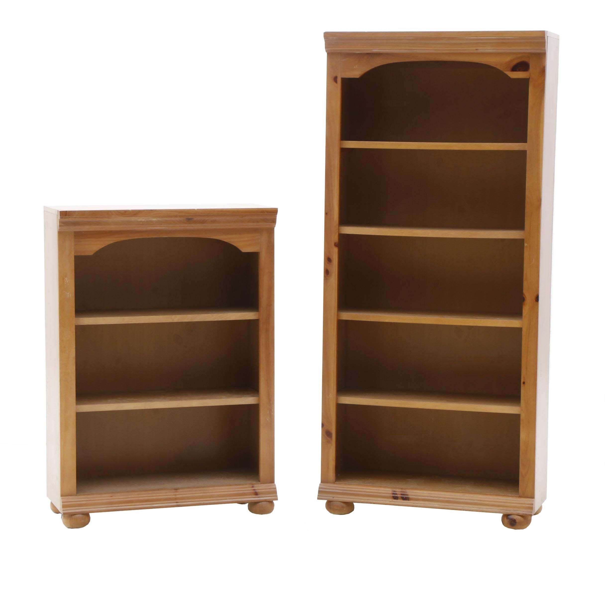 Two Contemporary Pine Bookshelves