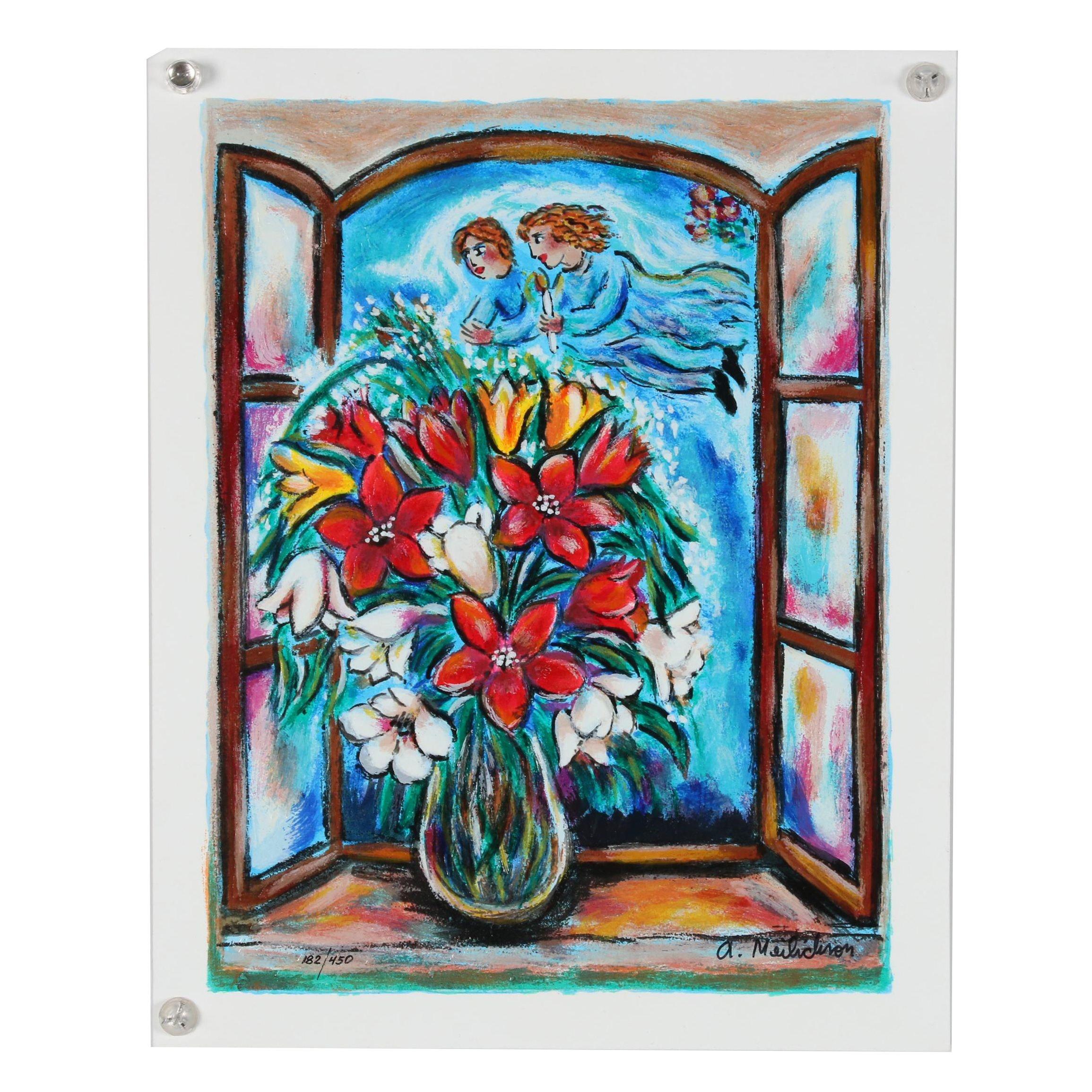 """Alex Meilichson  Serigraph """"Angels Blossom"""""""