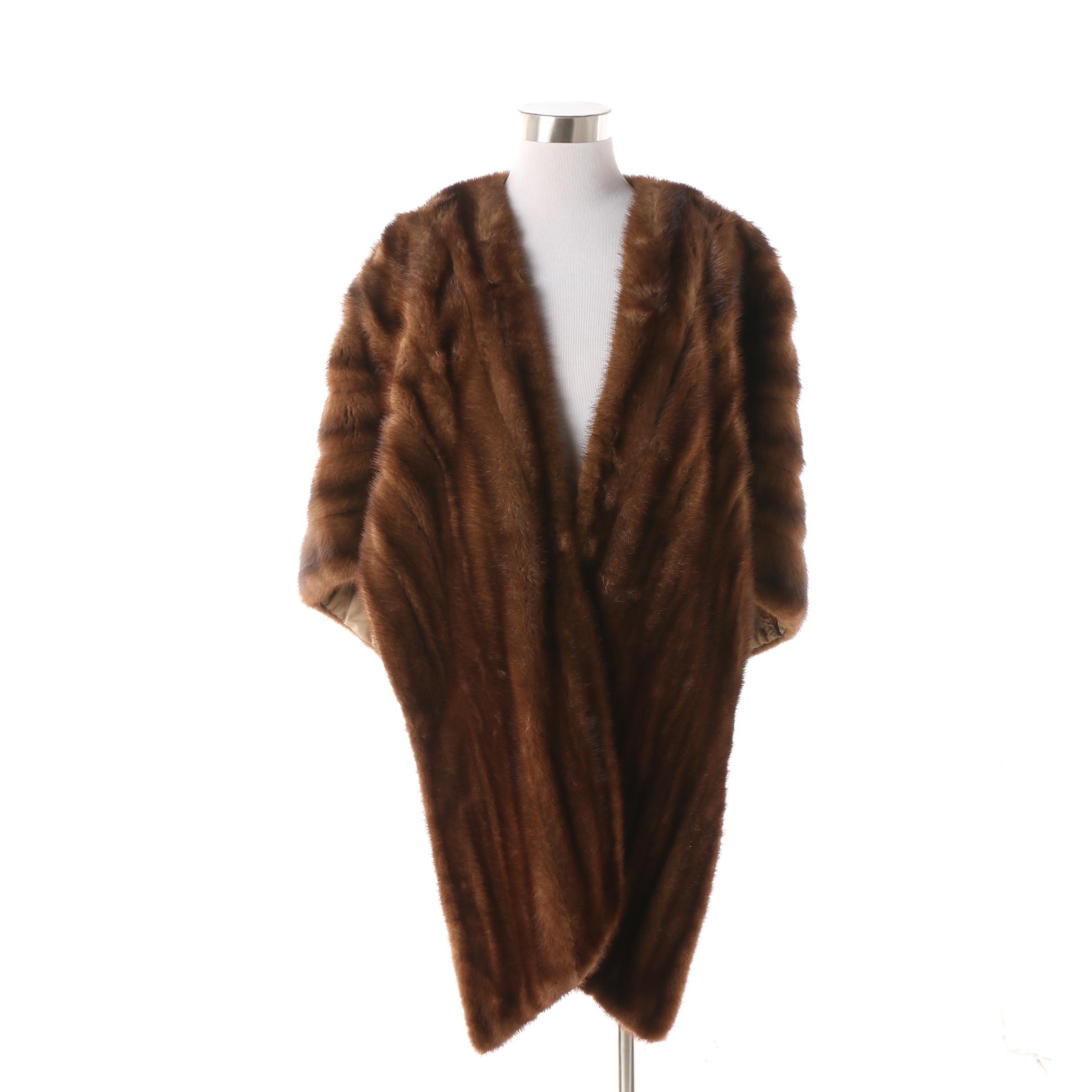 Women's Vintage Slatkin Furs New York Mink Fur Stole