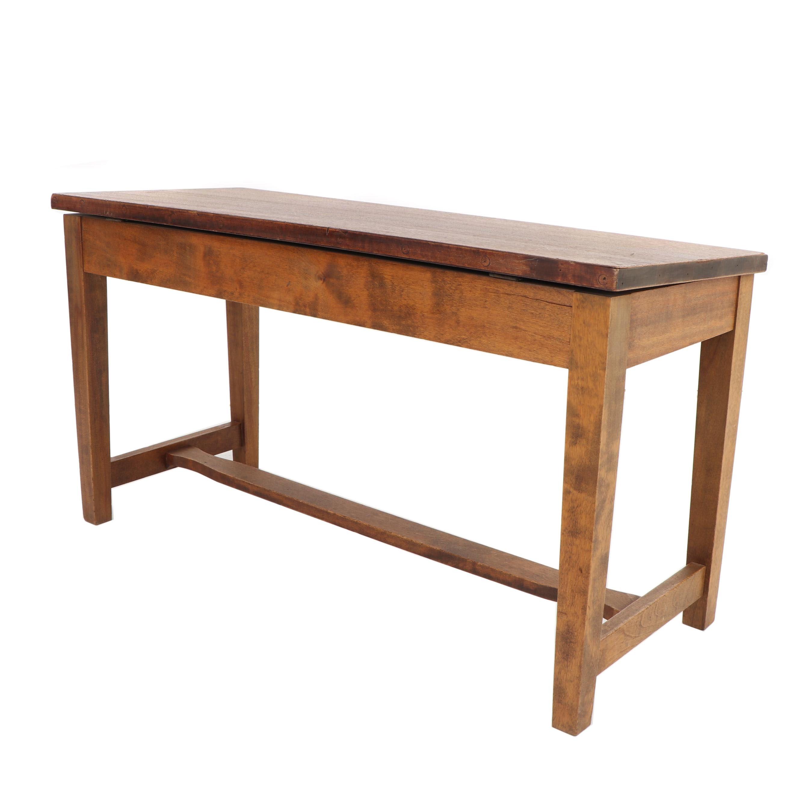 Mahogany Piano Bench, 20th Century