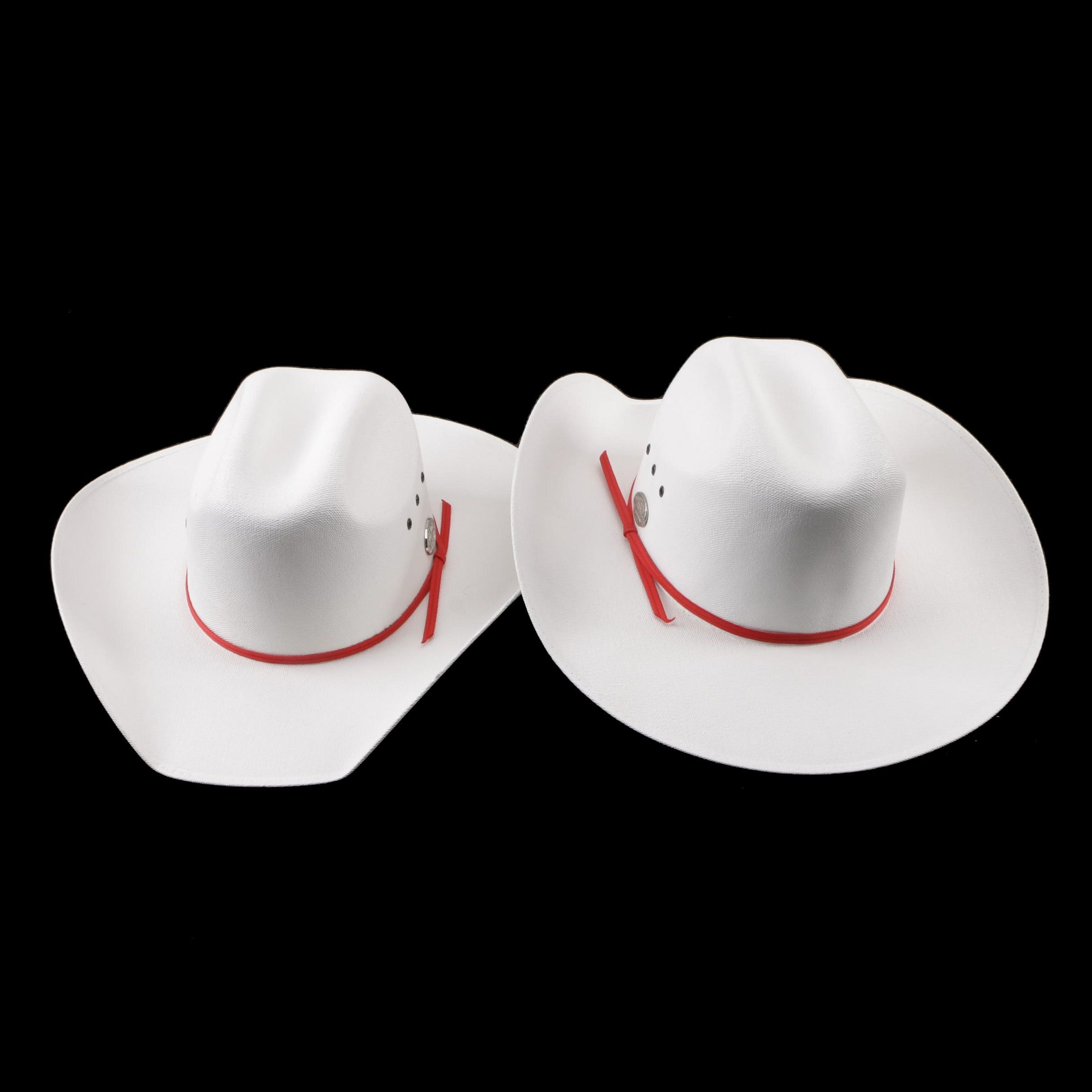 "Men's 2012 Smithbilt ""White Hat"" Calgary Stampede Tourism Canvas Cowboy Hats"