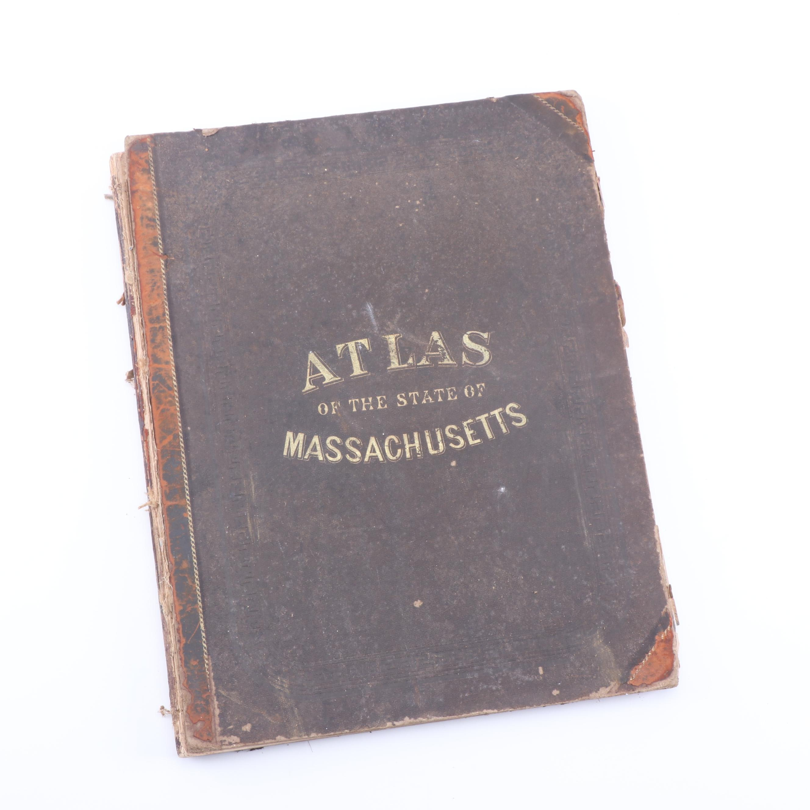 "1871 ""Official Topographical Atlas of Massachusetts"" by Walling and Gray"