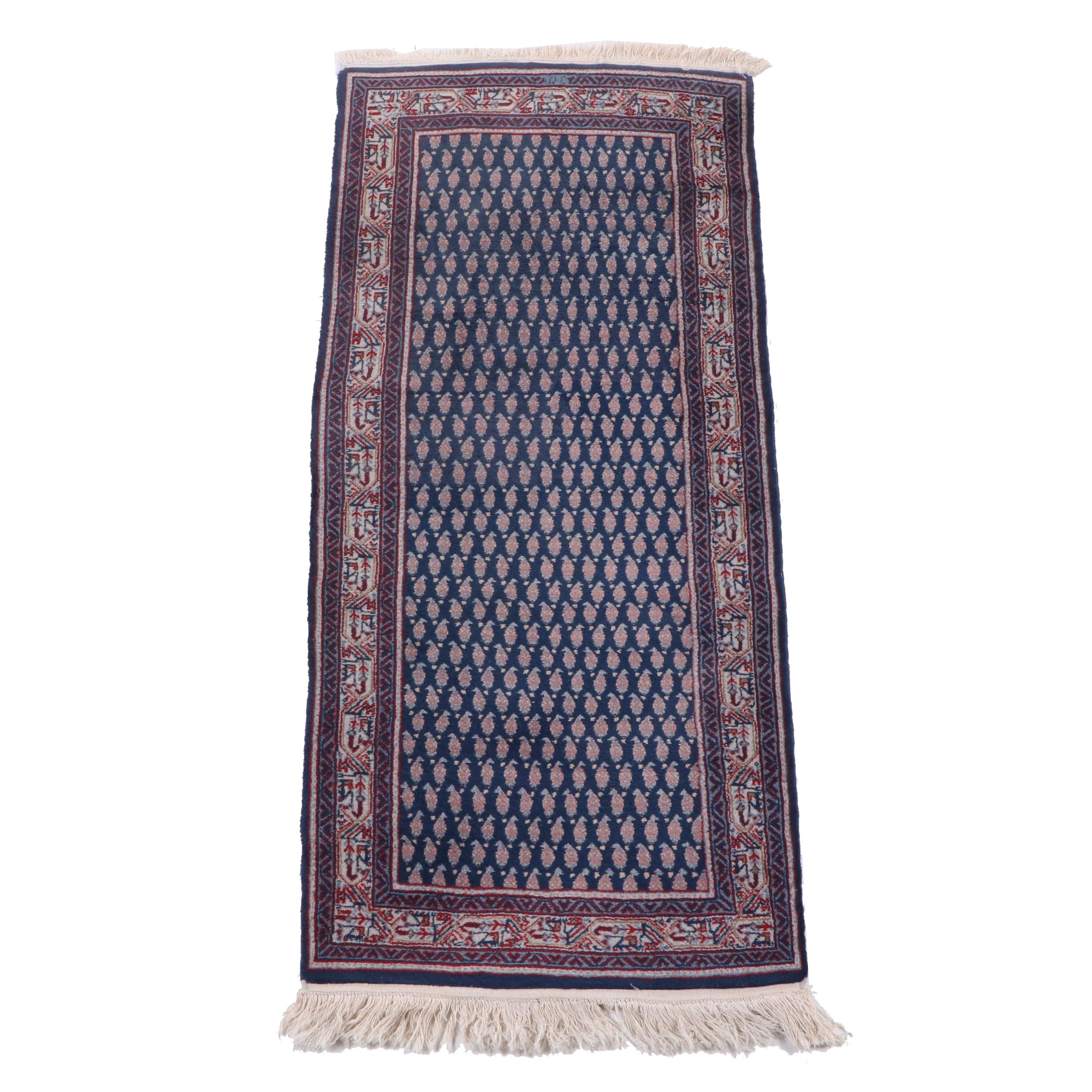 Hand-Knotted Indo-Persian Seraband Wool Runner