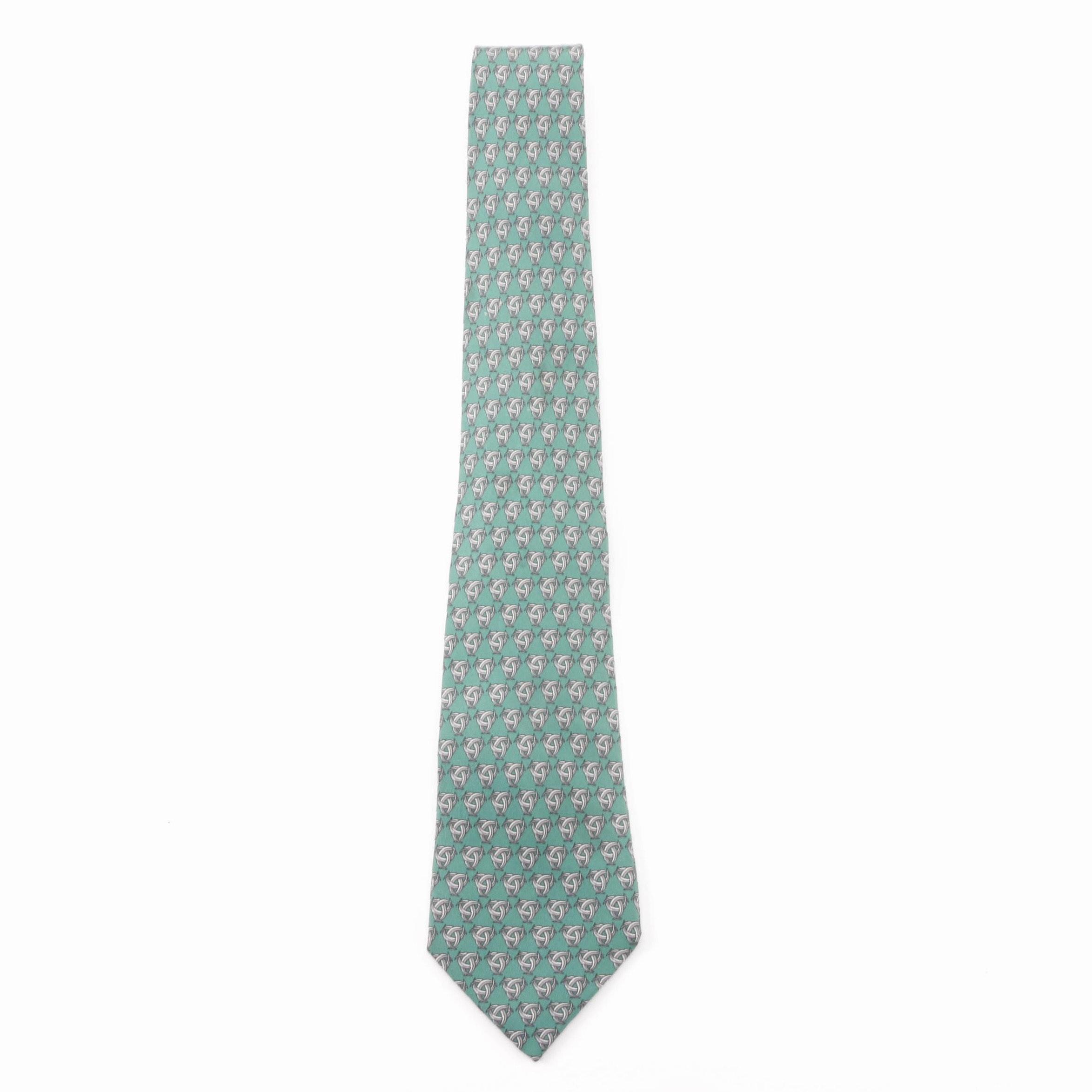 Hermès Paris Celtic Knot Silk Necktie