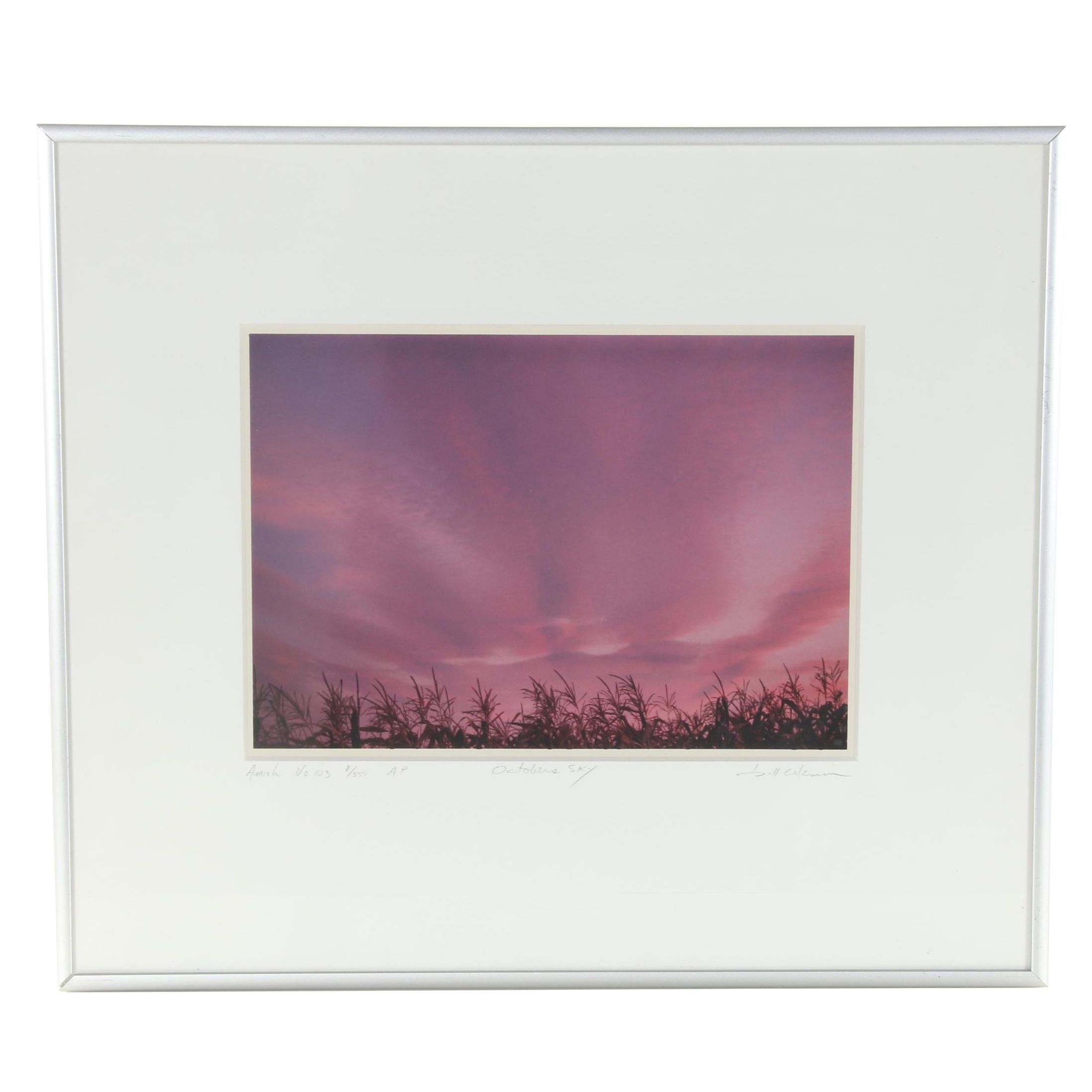 "Bill Coleman Limited Edition Photograph ""October's Sky"""