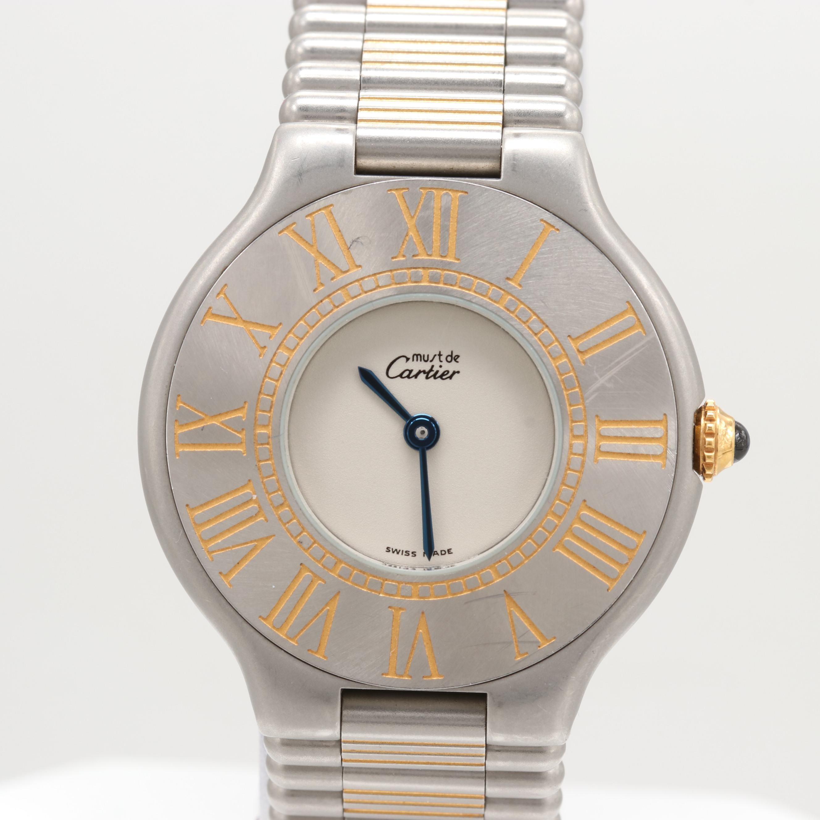 Must de Cartier 31MM Bullet Stainless Steel Wristwatch