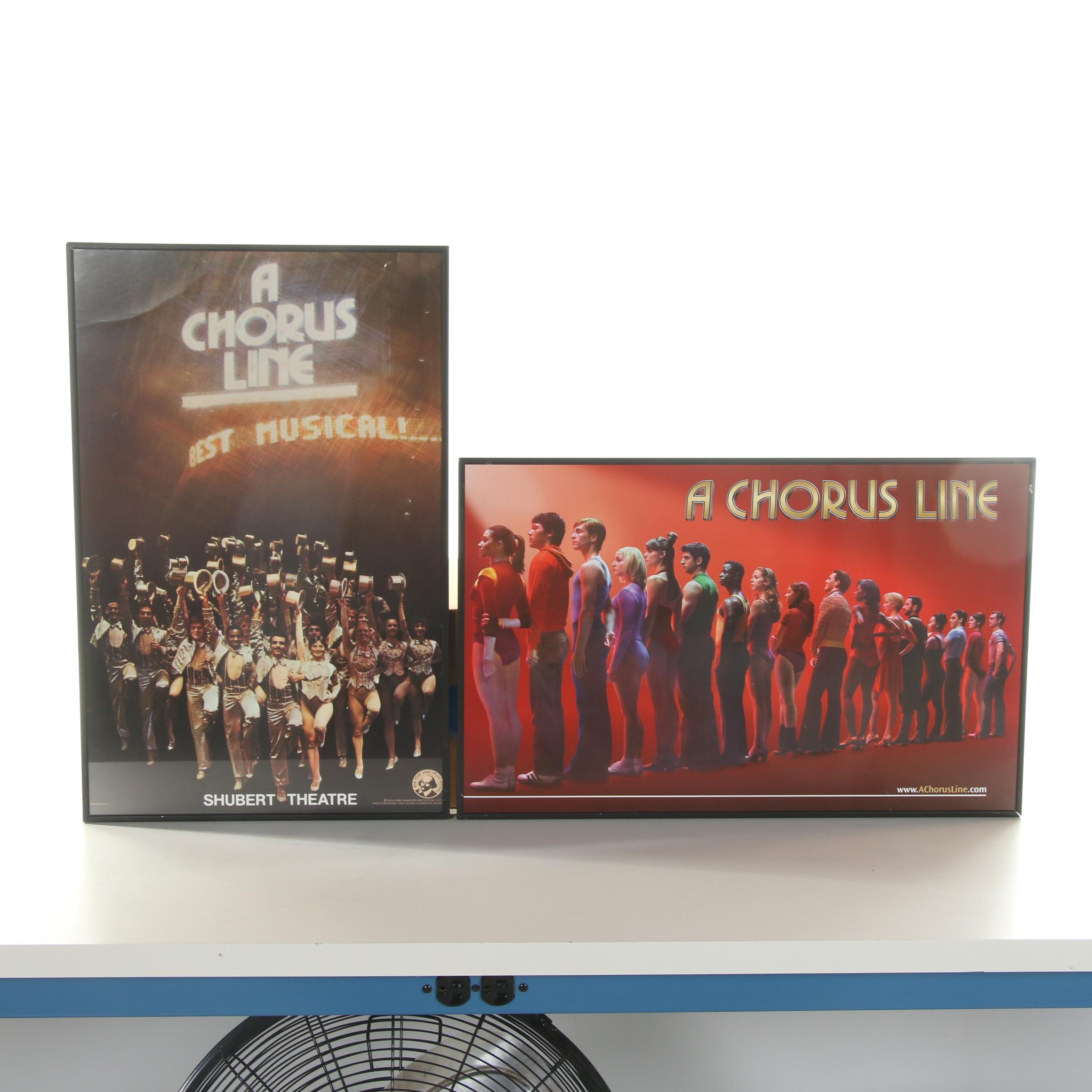 """Offset Lithograph Posters """"A Chorus Line"""""""