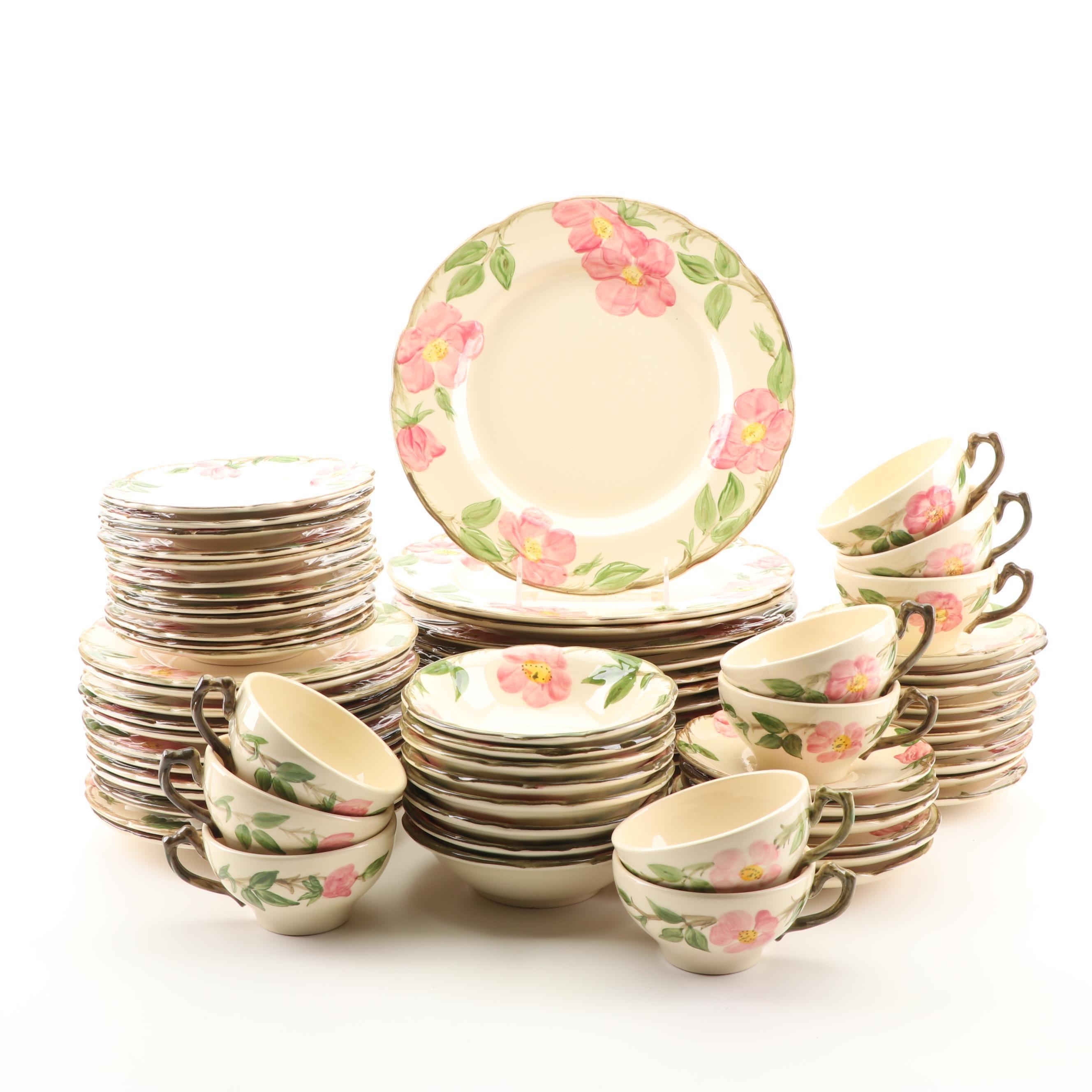 "Circa 1960s Franciscan ""Desert Rose"" Ceramic Dinnerware"