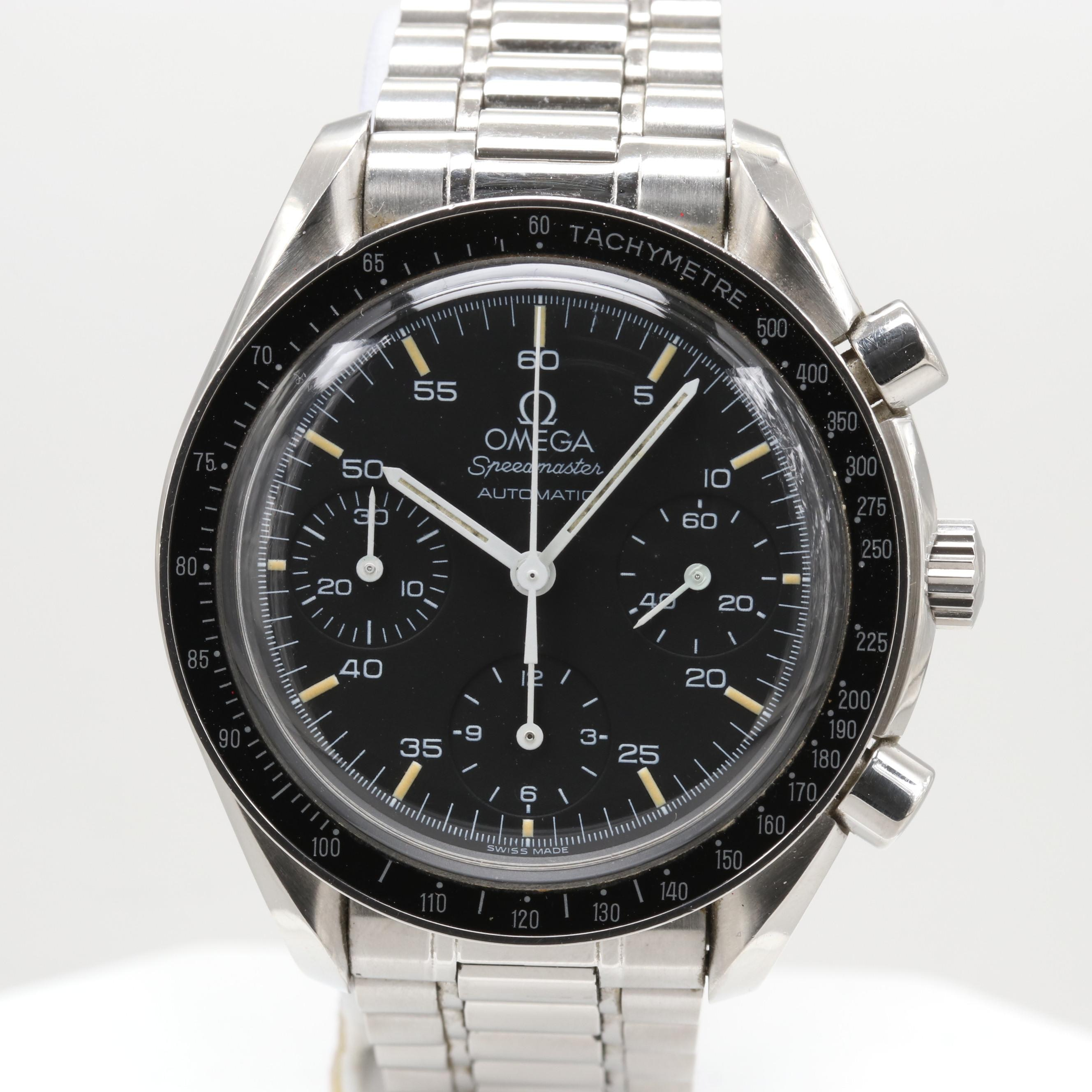 Omega Speedmaster Reduced Automatic Chronograph Wristwatch, 1997