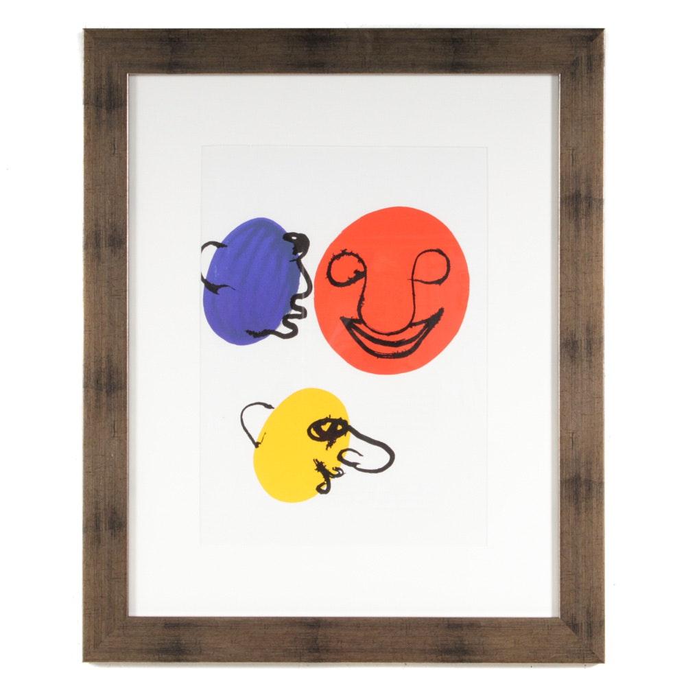 """Alexander Calder Lithograph for 1976 """"Derrière le Miroir"""""""