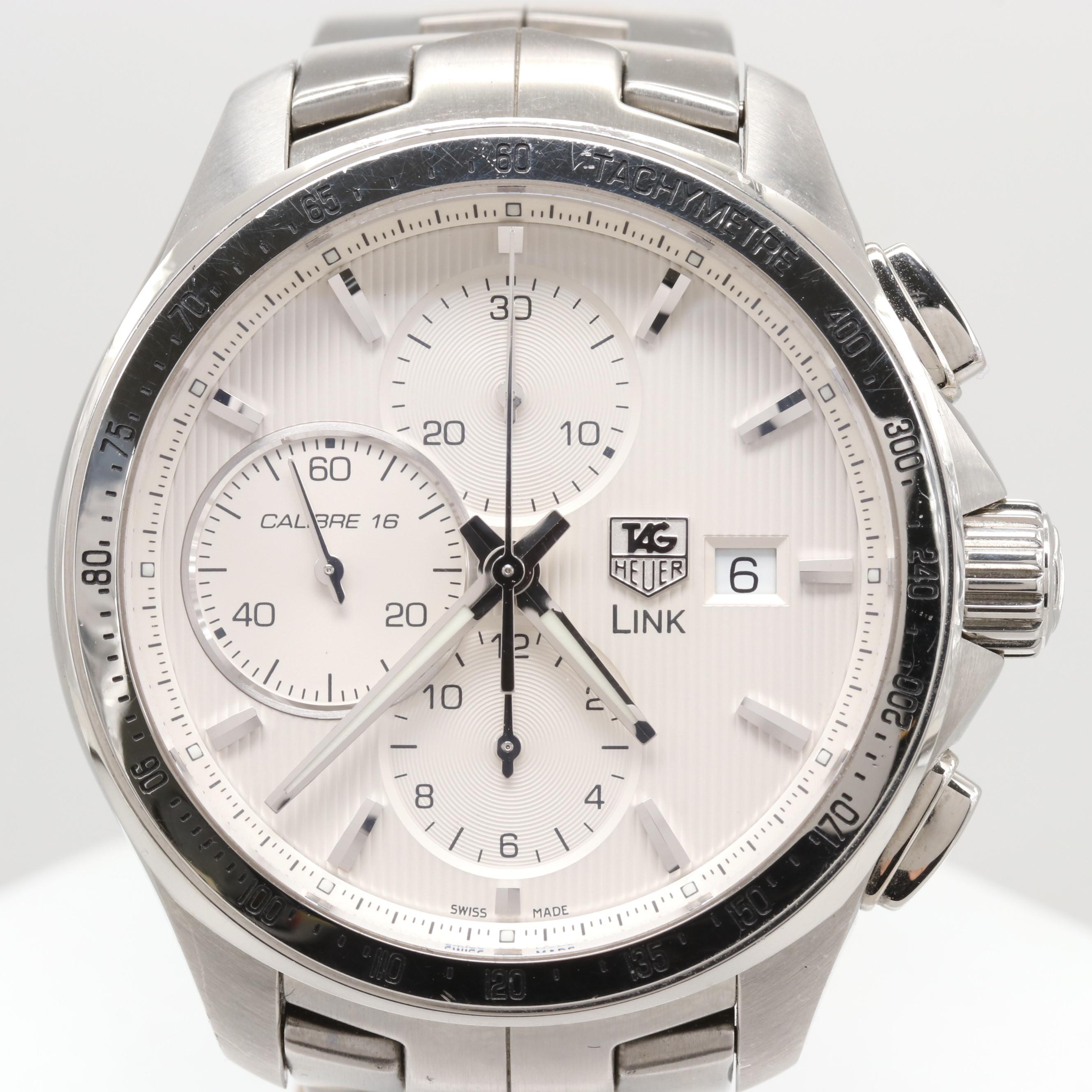 TAG Heuer Link Calibre 16 Automatic Chronograph Wristwatch
