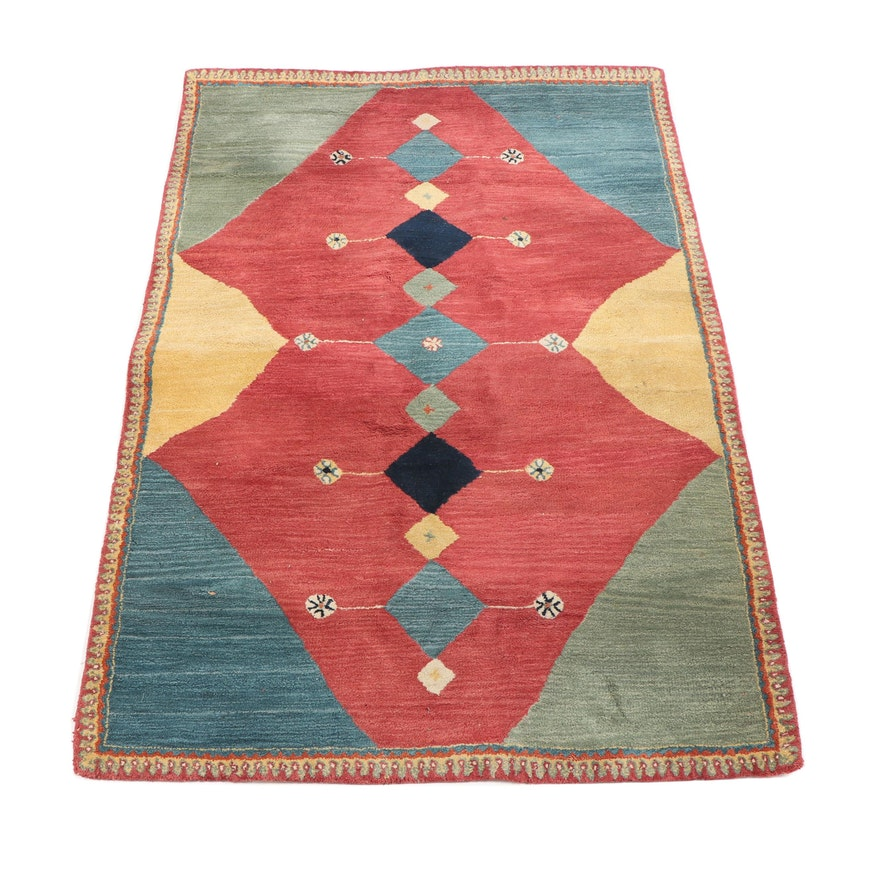Hand Tufted Indian Mer Meridian Wool Rug Ebth