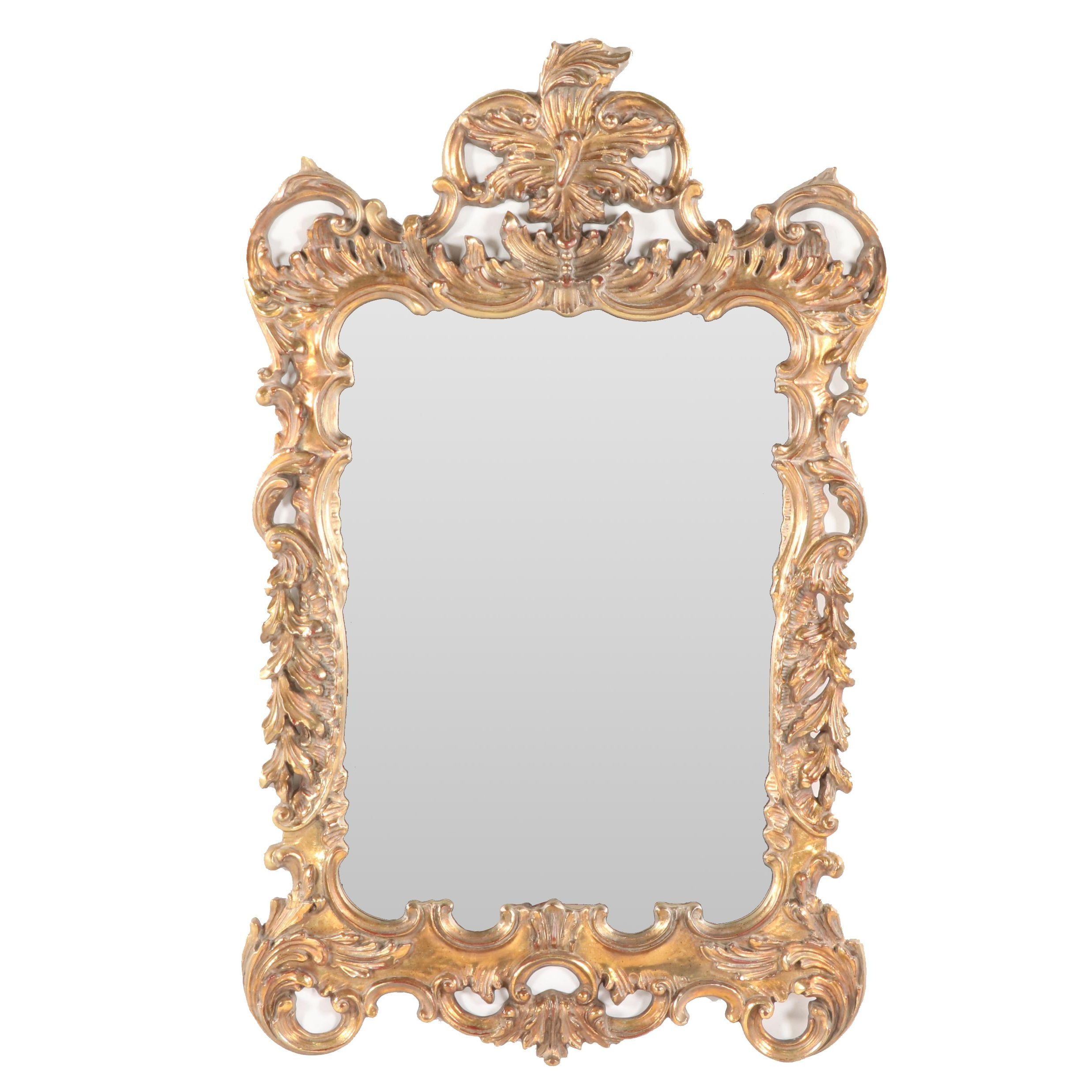 Rococo Style Gilded Wall Mirror, 21st Century