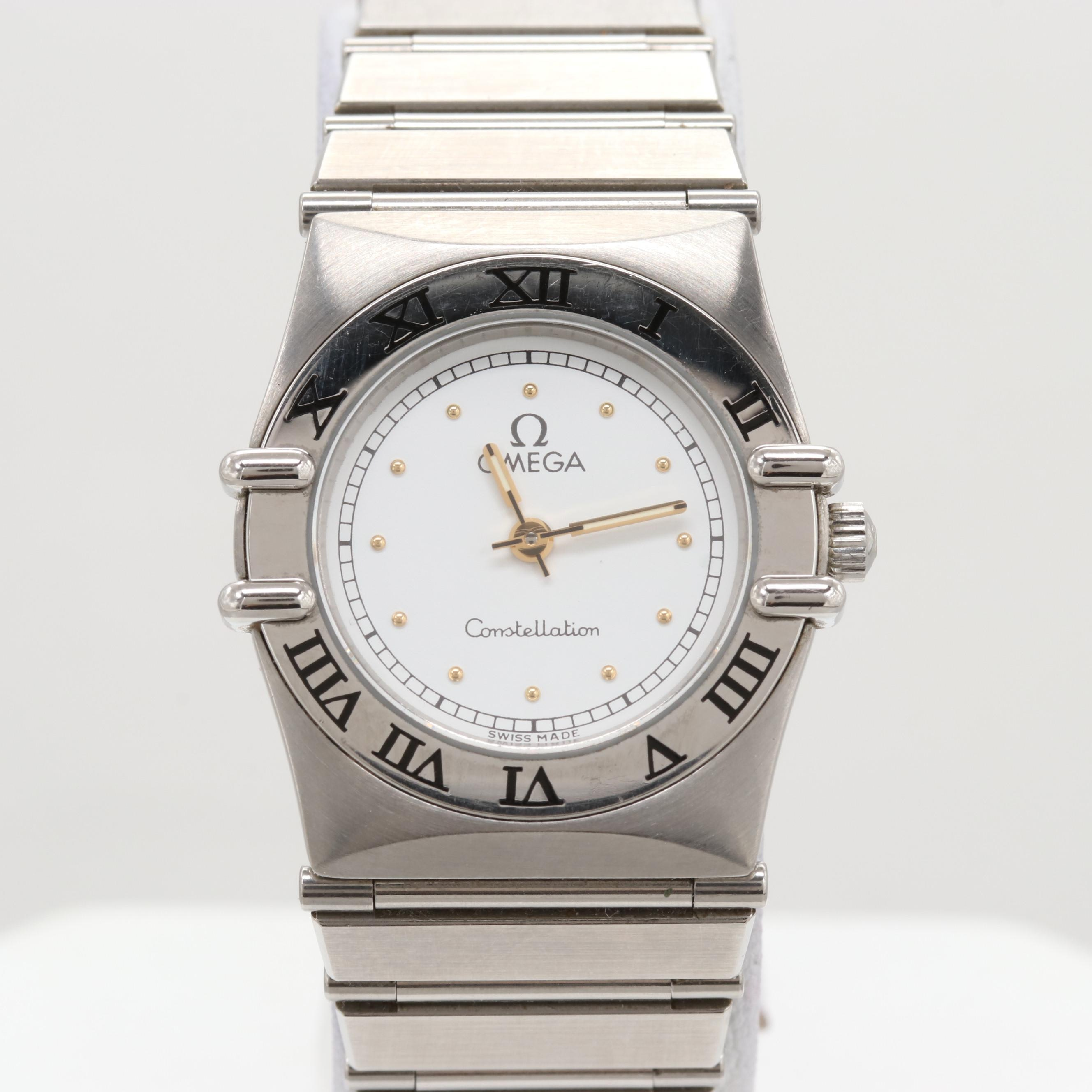 Omega Constellation Stainless Steel Quartz Wristwatch