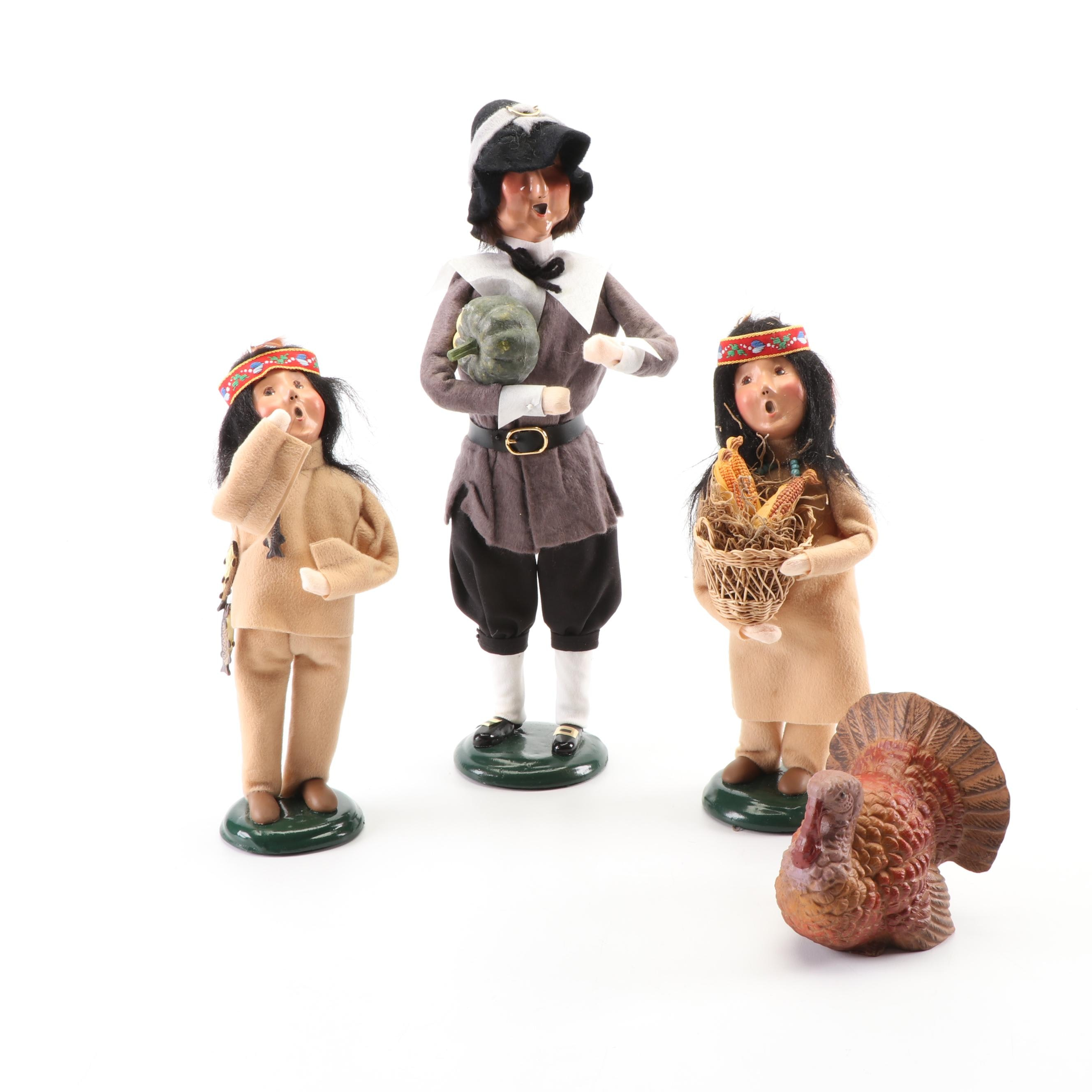 Byers' Choice Thanksgiving Caroler Figurines, 1990s