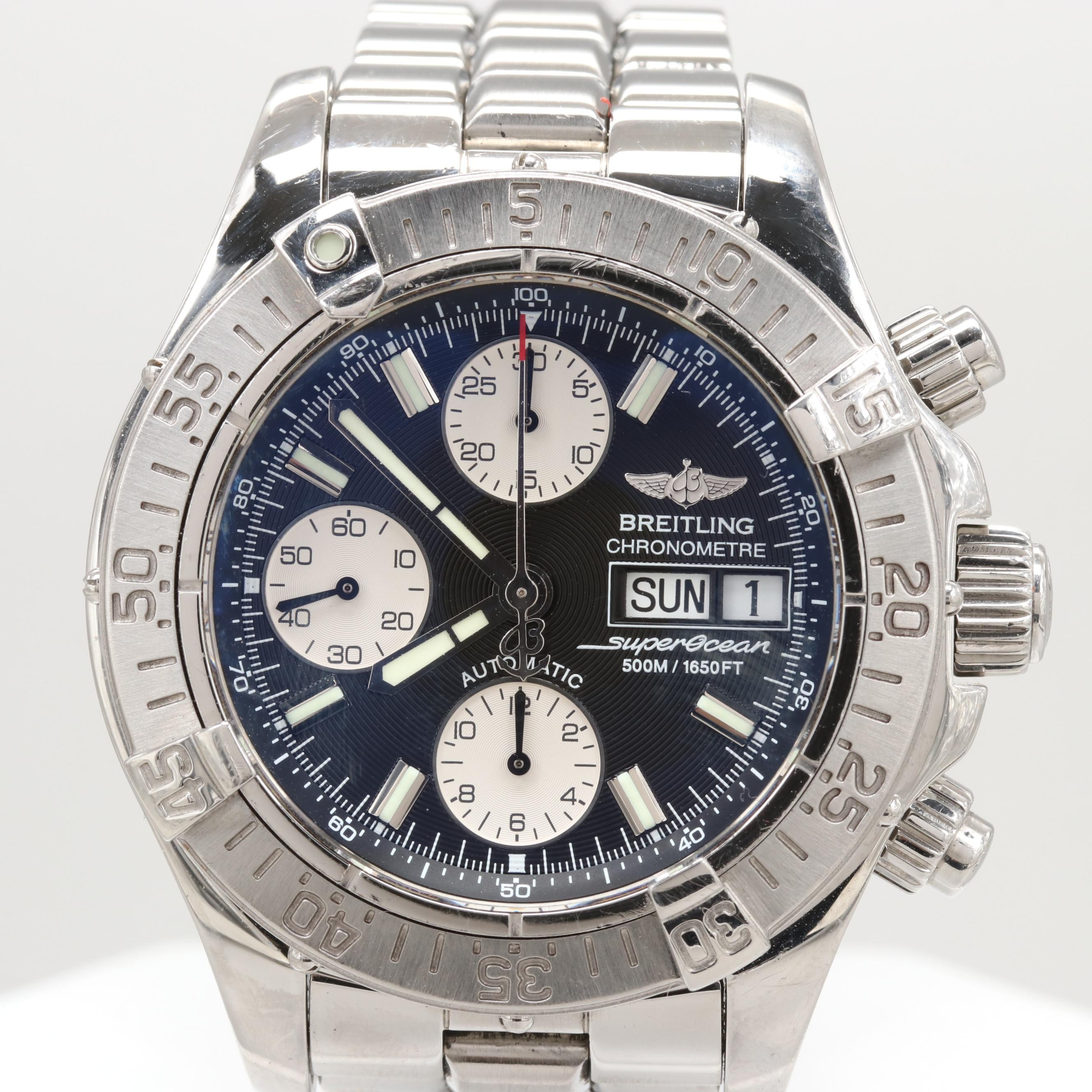 Breitling Chrono Superocean Automatic Wristwatch