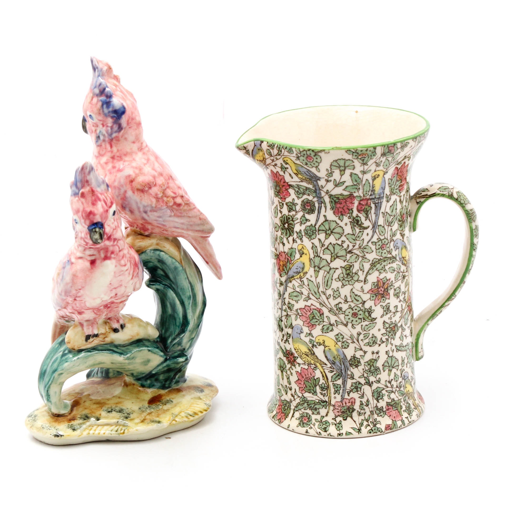 """Royal Doulton """"Persian"""" Pitcher and Stangl Parrot Figurine"""