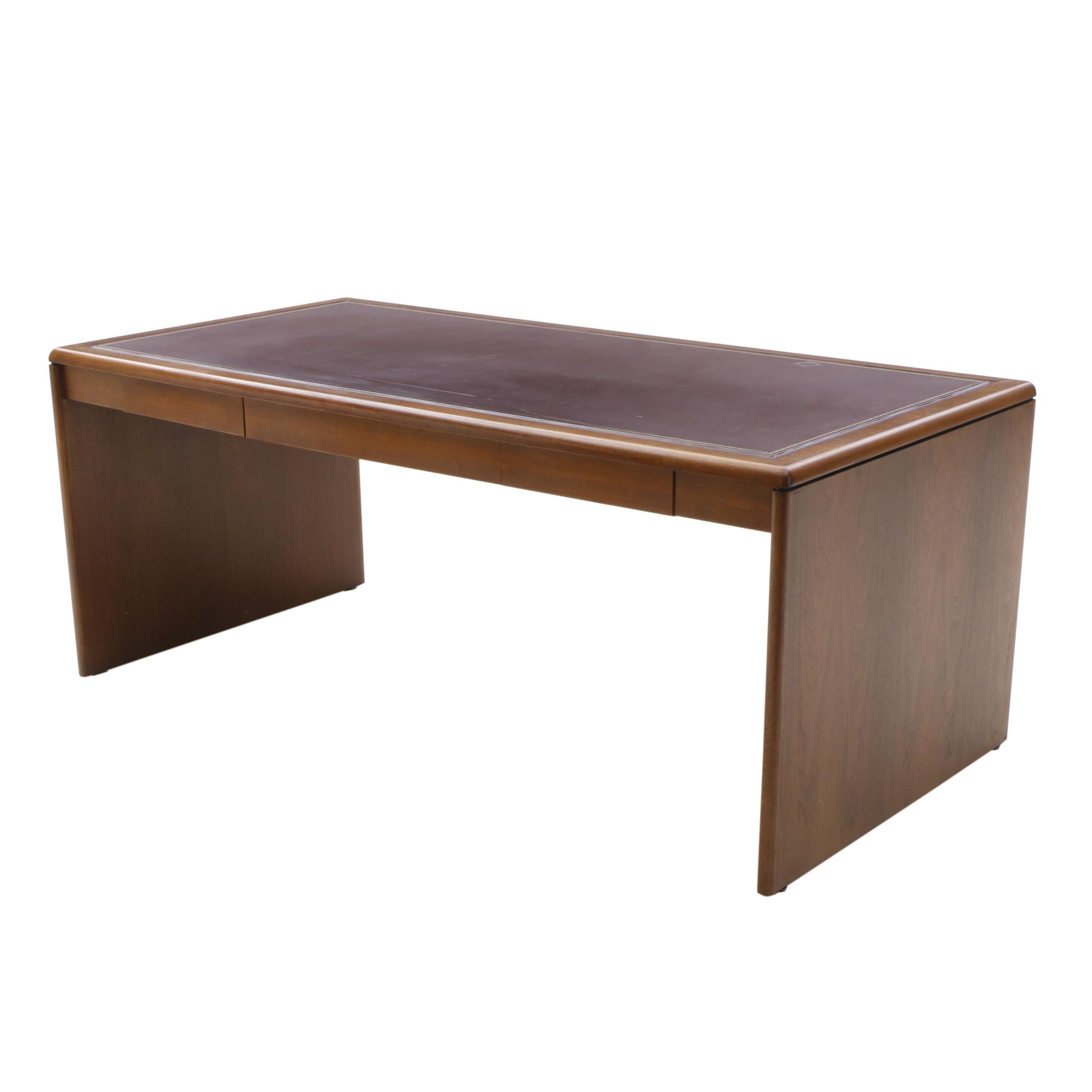 Leather Top Inset Executive Desk by Jofco Inc.