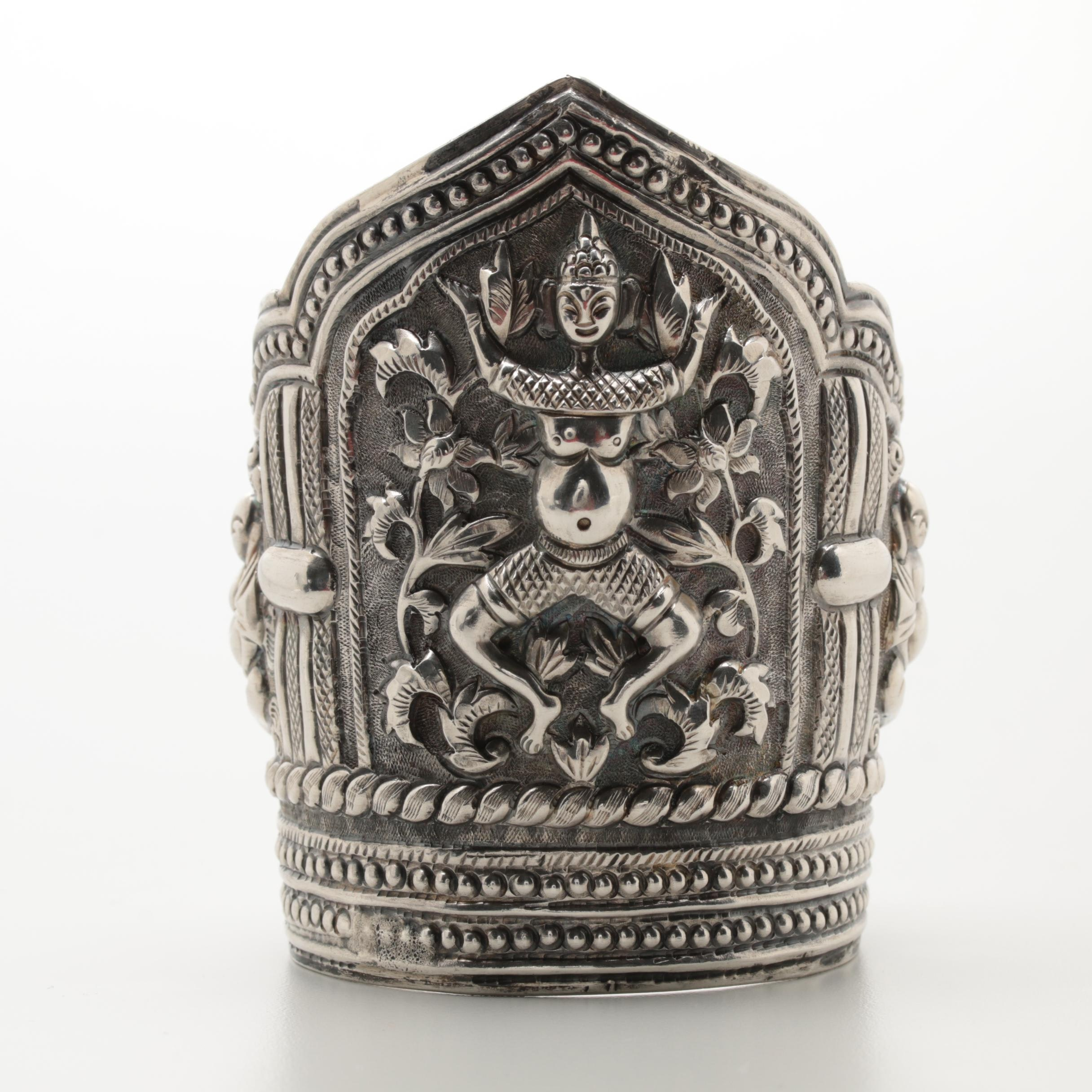 Southeast Asian Sterling Sliver Cuff