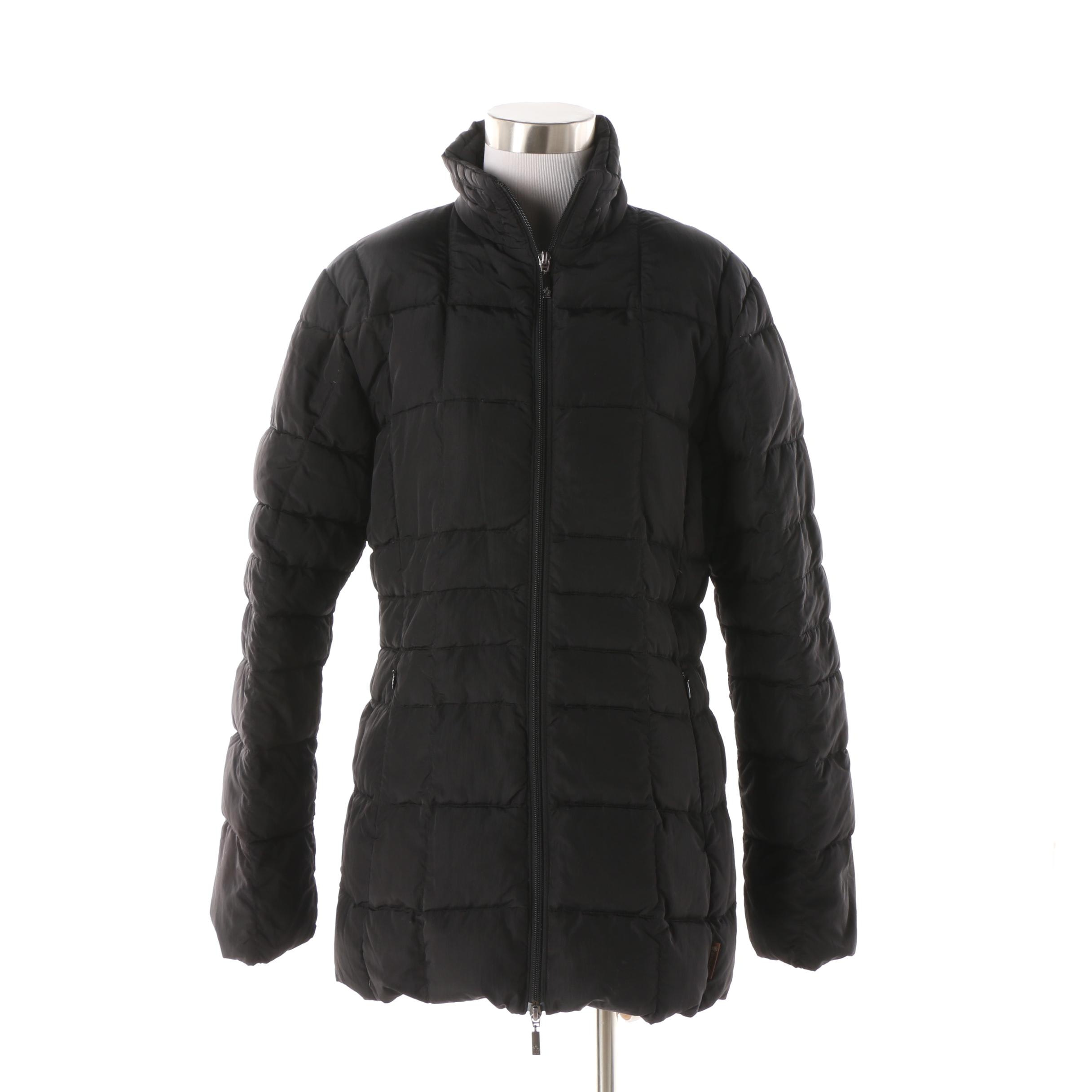 Women's Moncler Black Quilted Down Coat