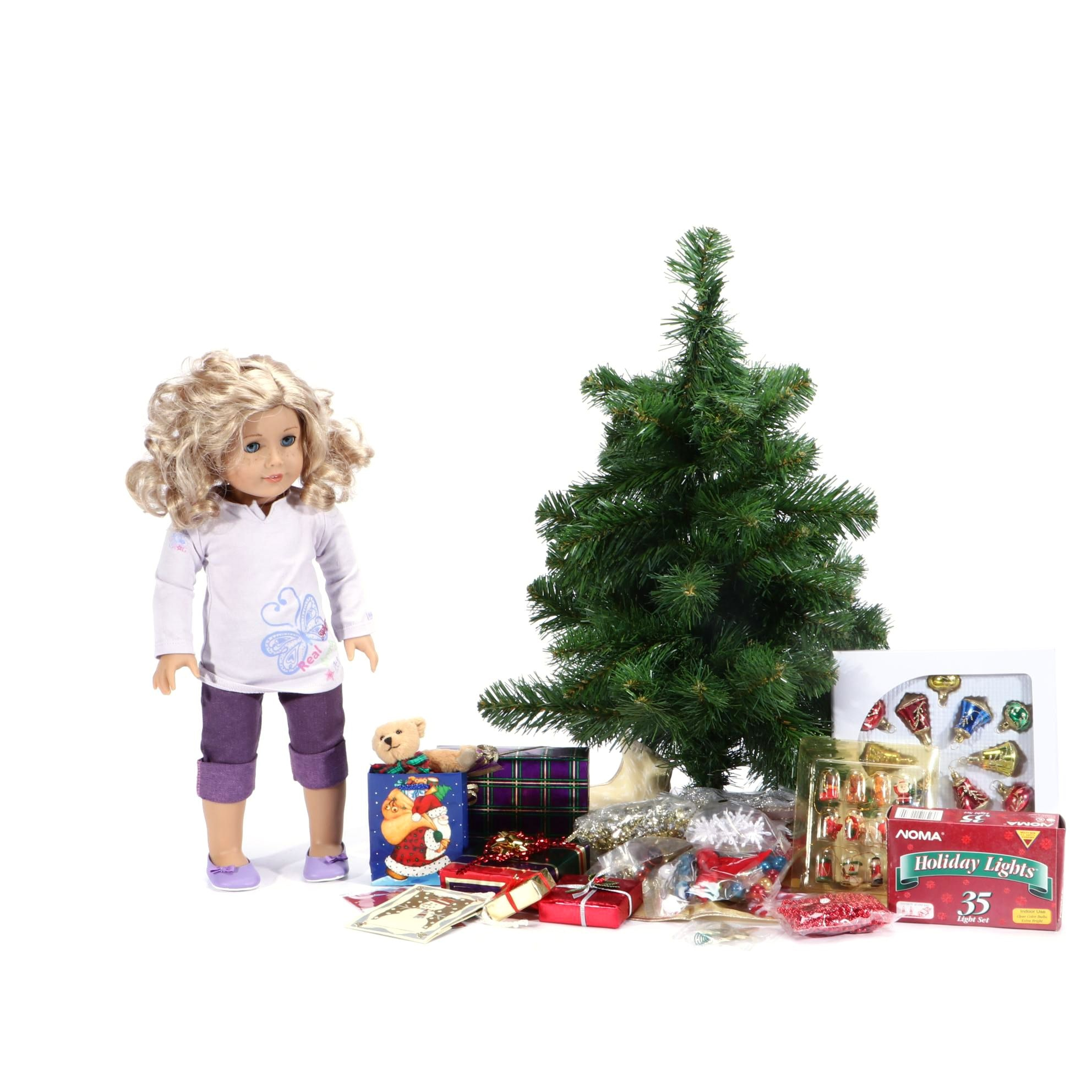 """""""My American Girl"""" Doll with Christmas Tree and Accessories"""