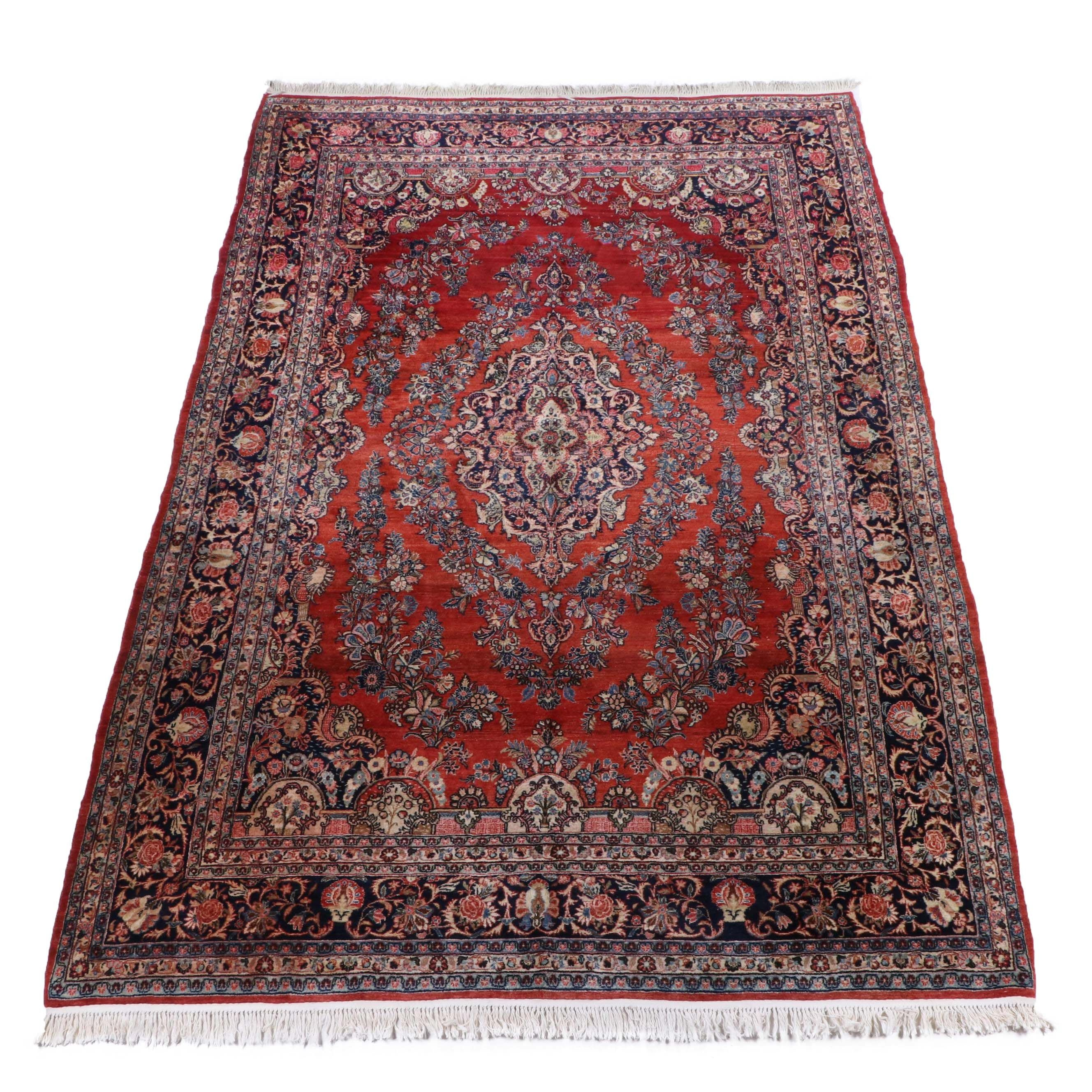 Hand-Knotted Persian Qazvin Wool Room Sized Rug