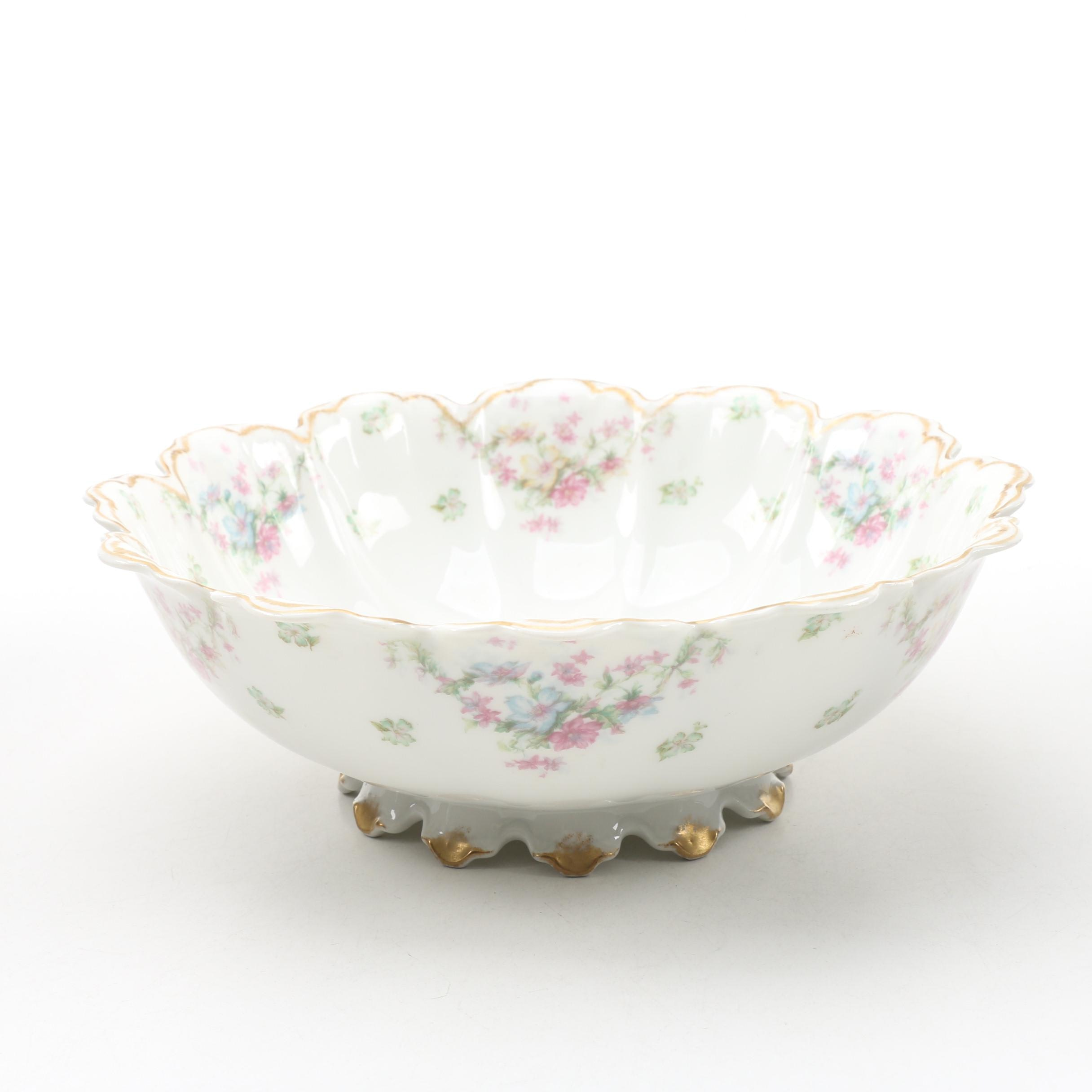 Haviland Limoges Porcelain Footed Bowl