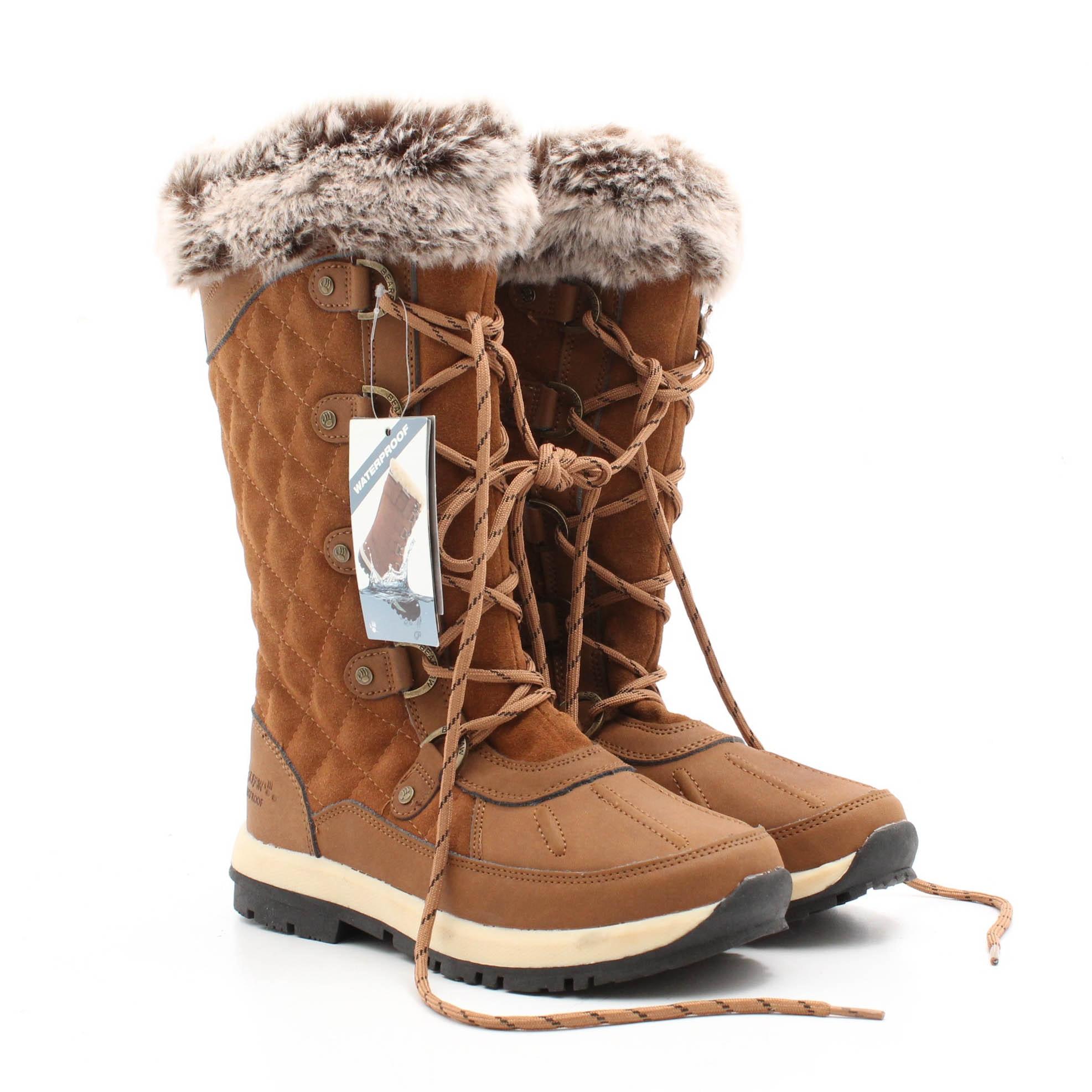 Bearpaw Suede Sheepskin-lined  Boots