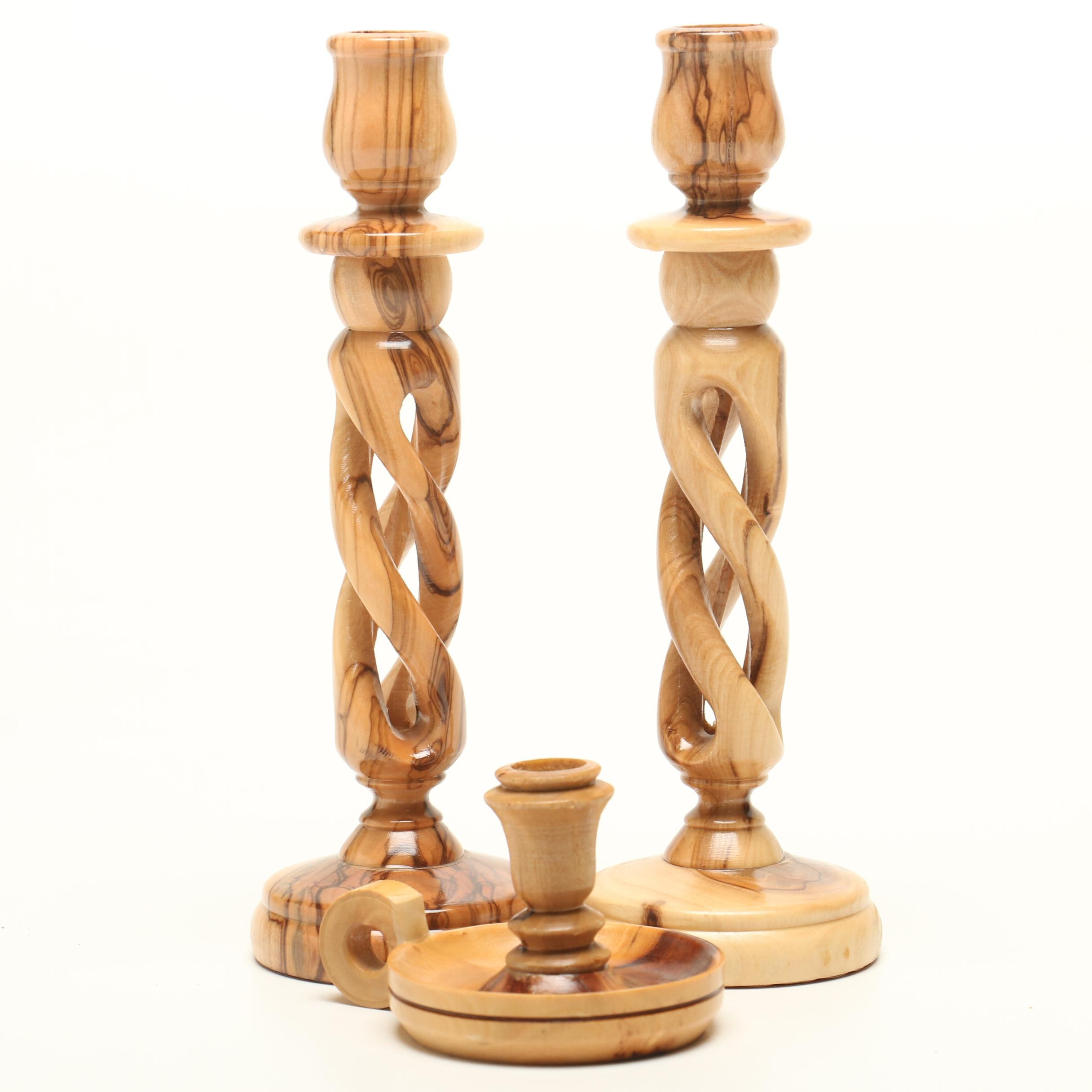 Spalted Maple Candlesticks