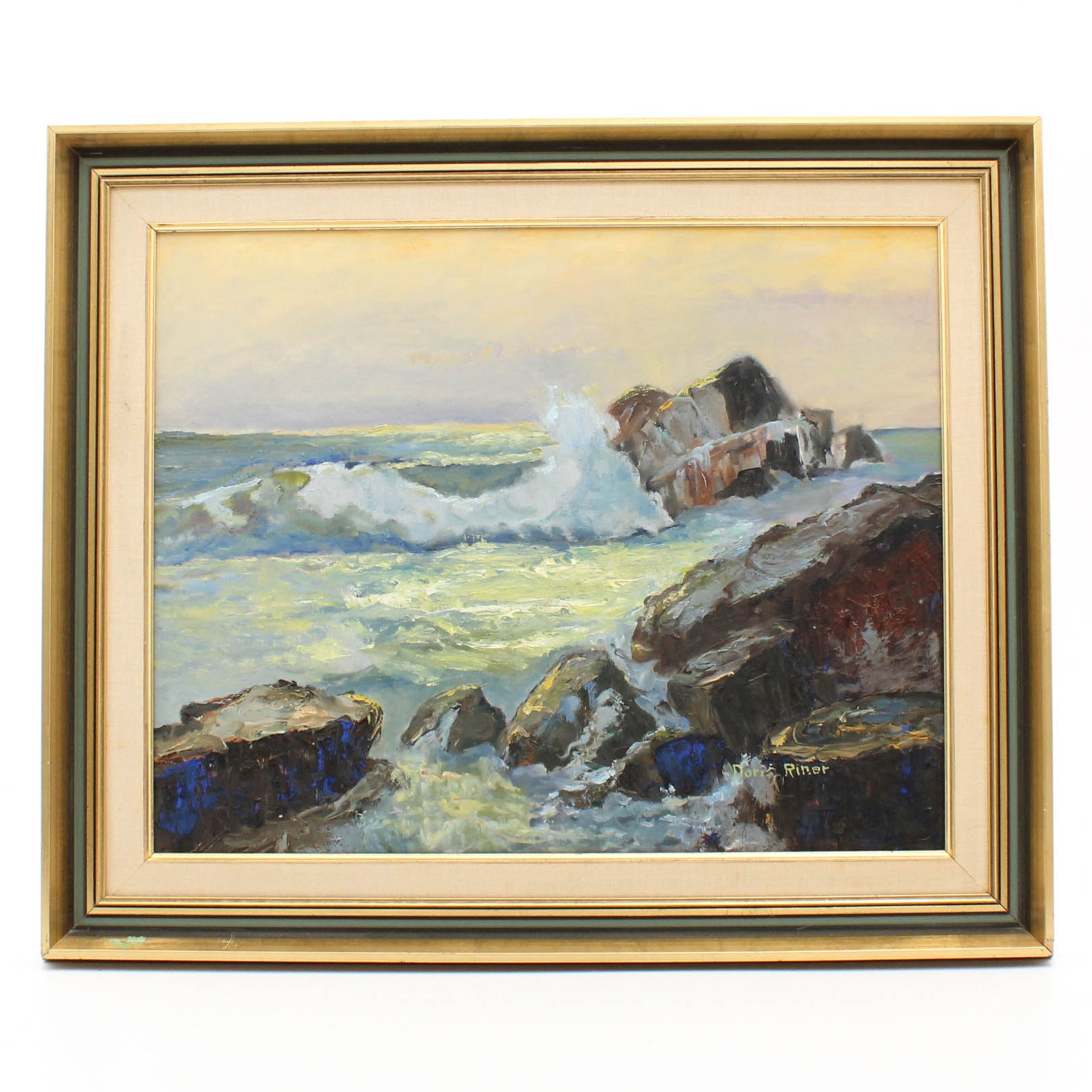 Doris Riner Seascape Oil Painting