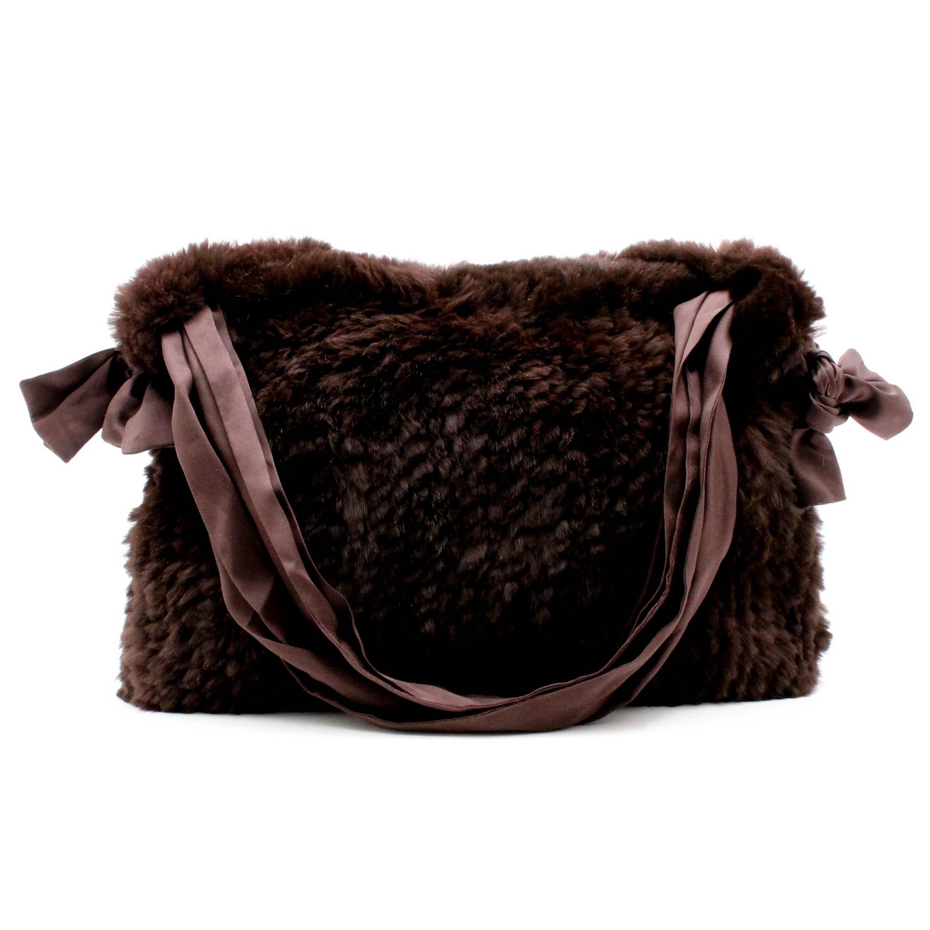Funky East Handwoven Rabbit and Silk Handbag