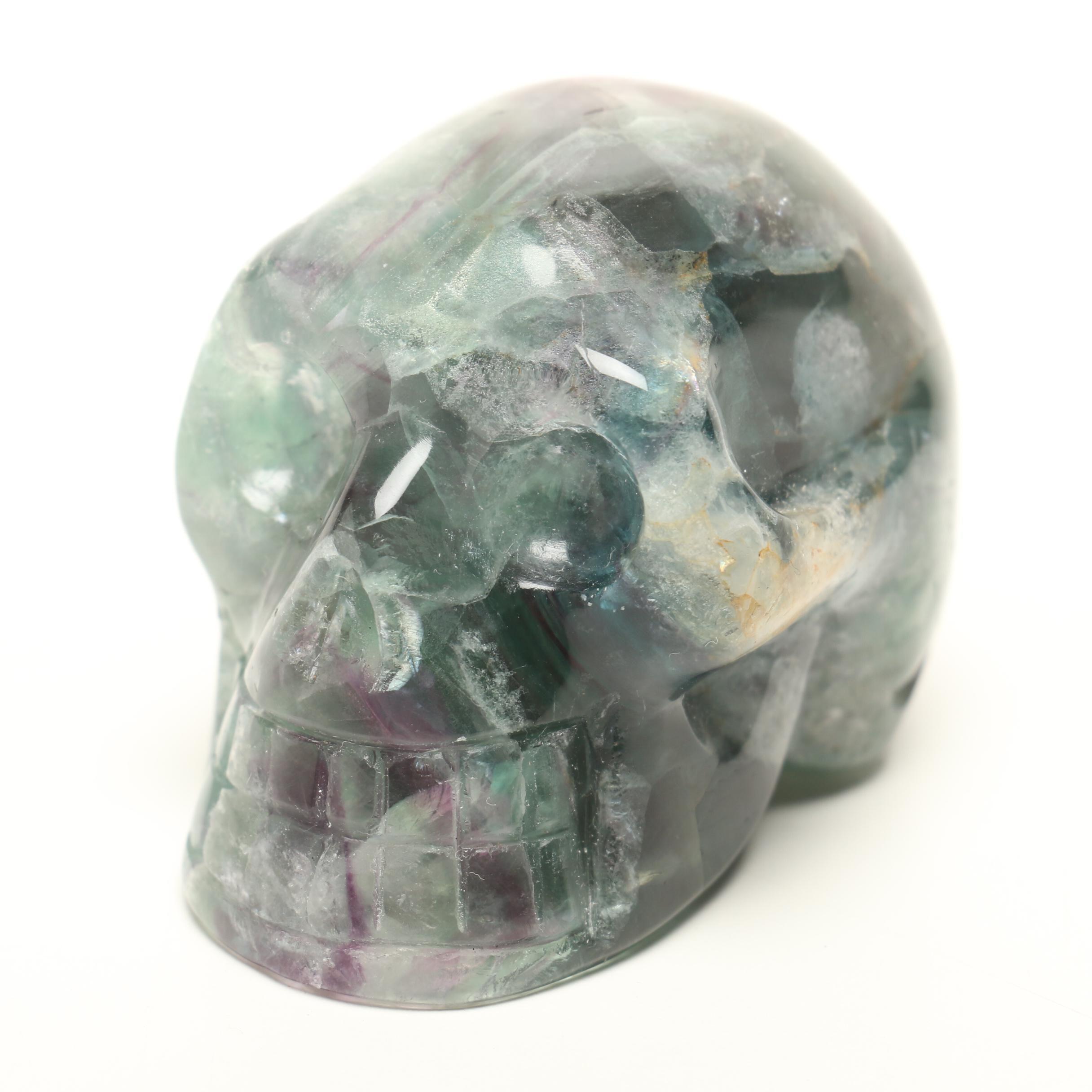 Carved Fluorite Skull