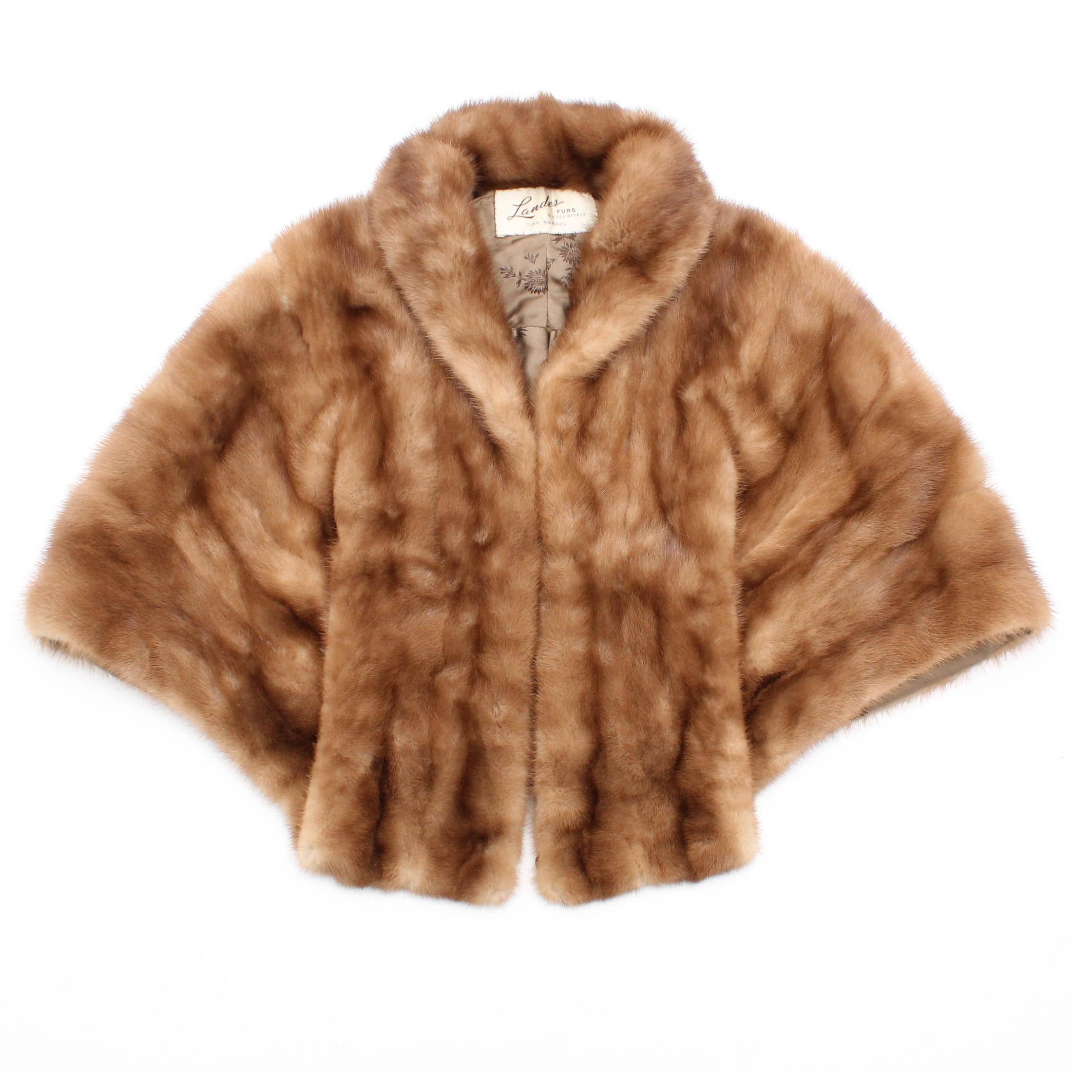 Vintage Landes Furs Mink Fur Stole