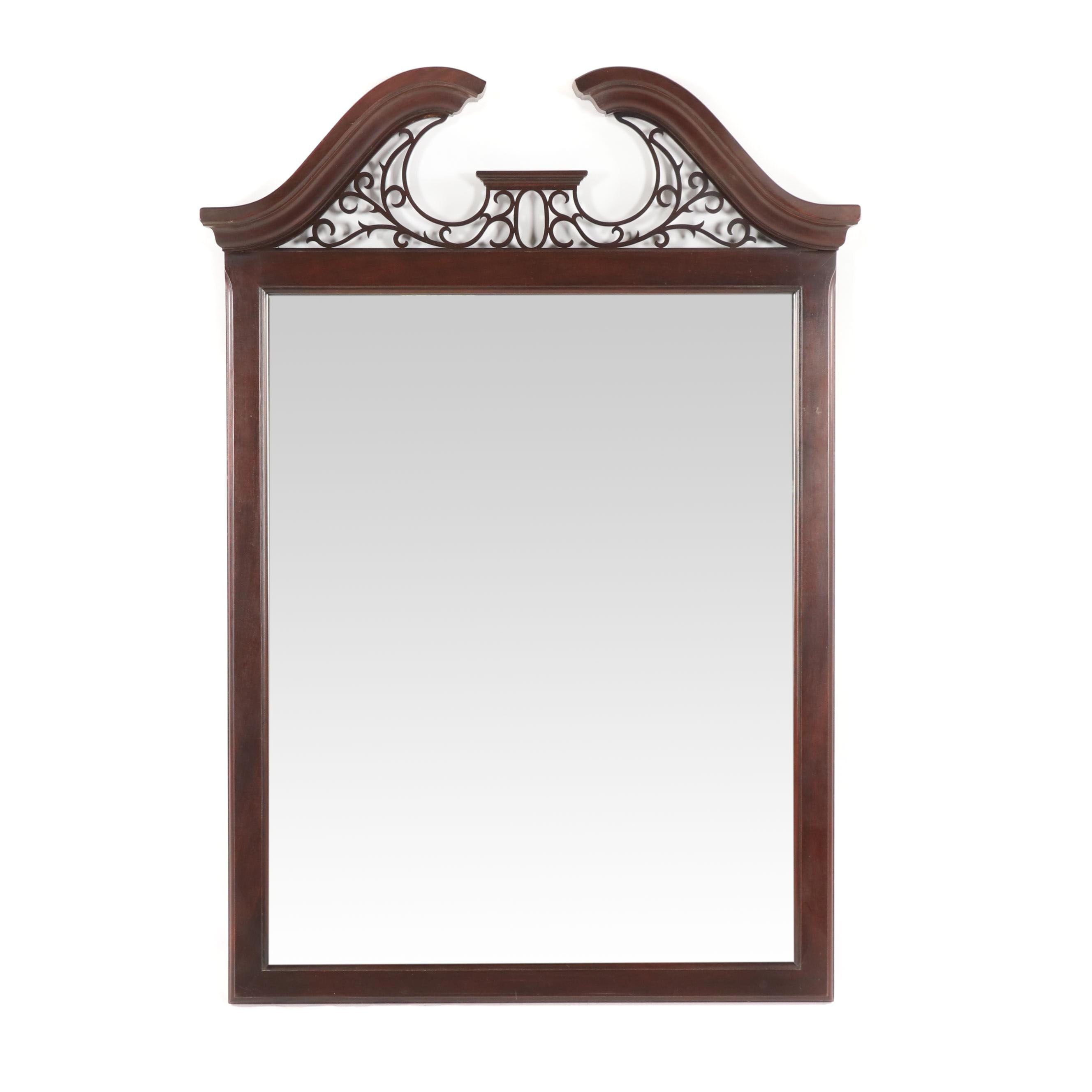 Federal Style Mahogany Frame Wall Mount Mirror, 21st Century