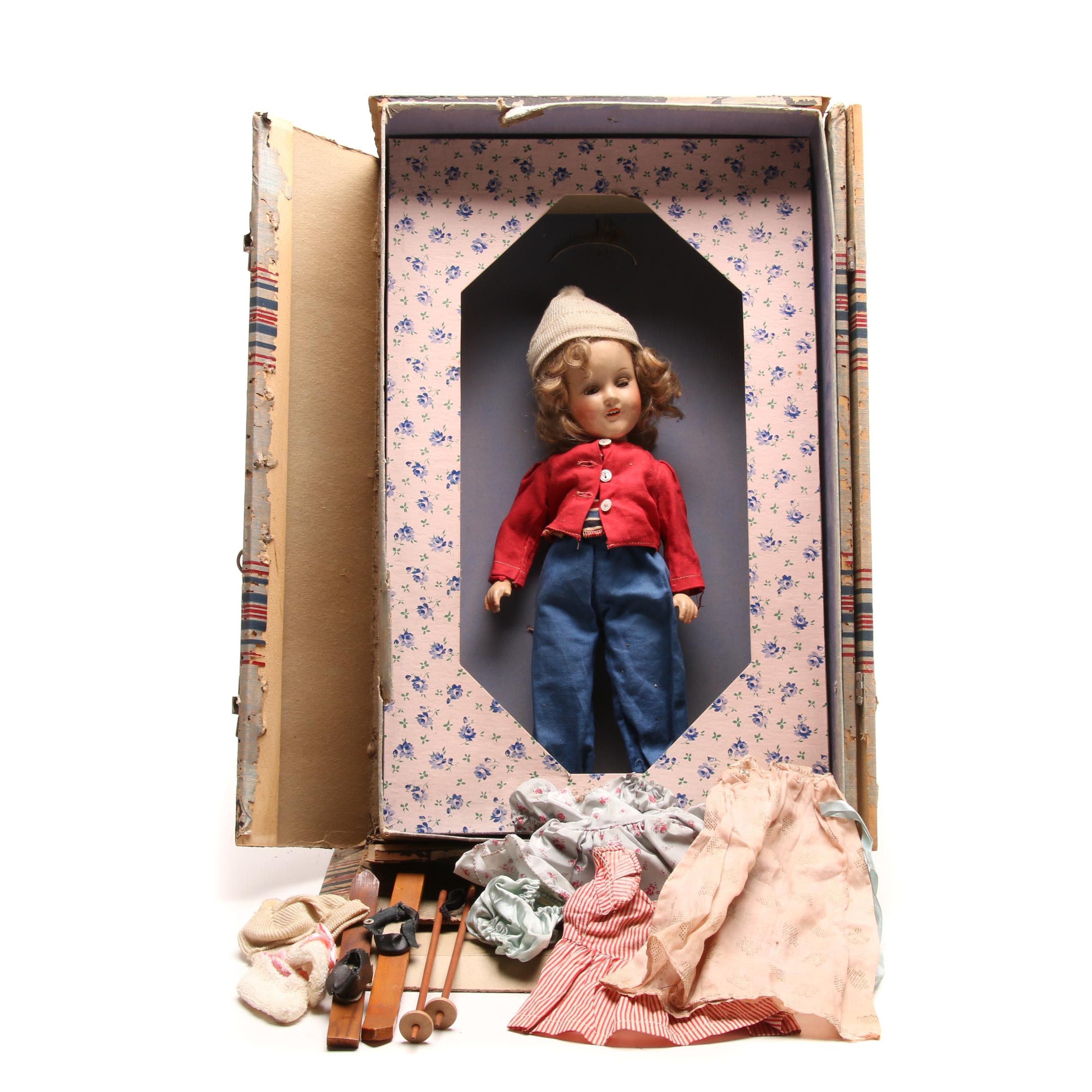 Vintage Sonja Henie Style Composition Doll