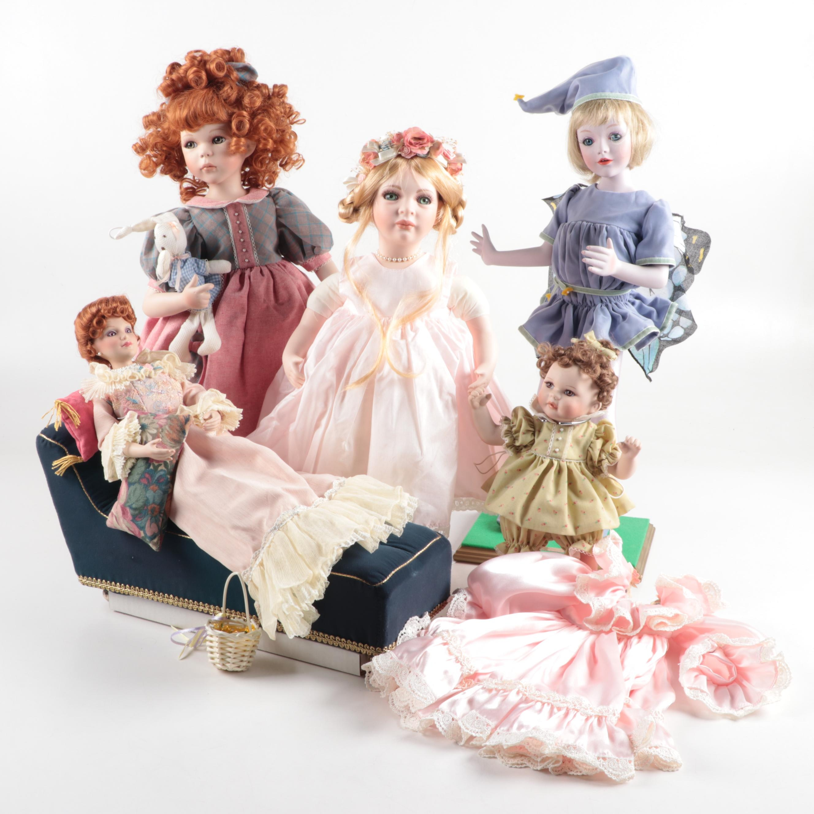 Porcelain Dolls by Seymour Mann, Judy Belle, and More