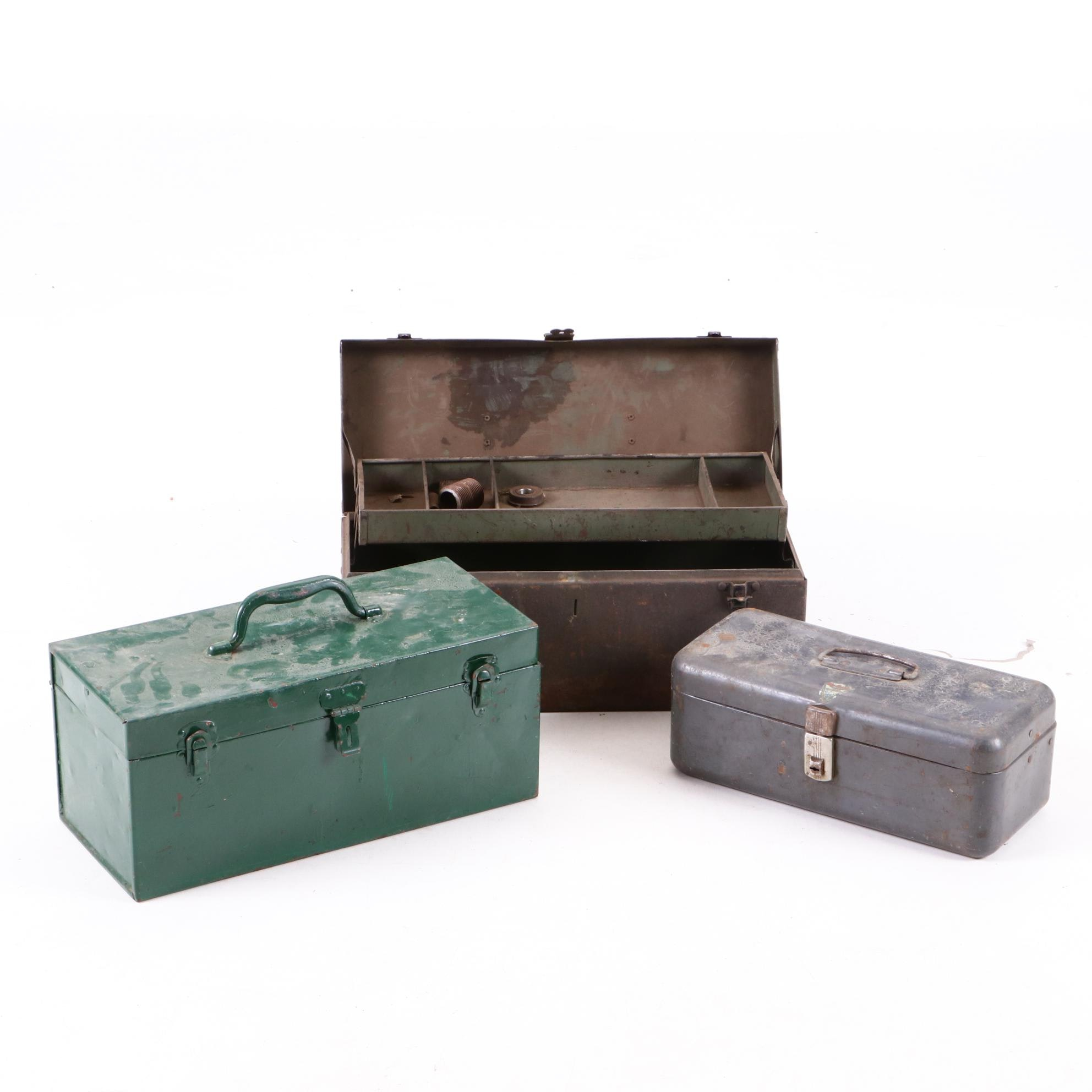 Group of Three Vintage Toolboxes