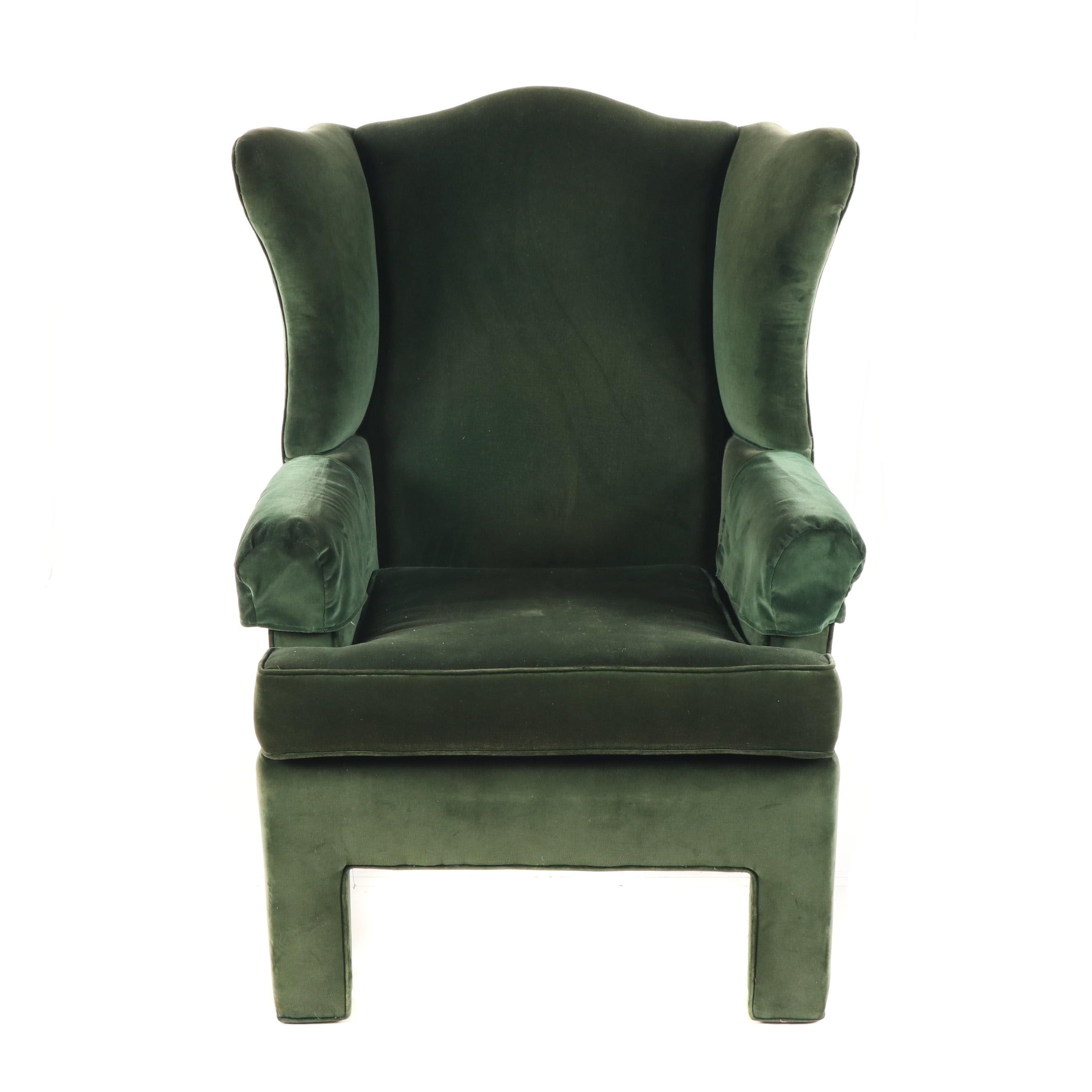 Upholstered Wingback Armchair by Sara Scott Furniture, Late 20th Century